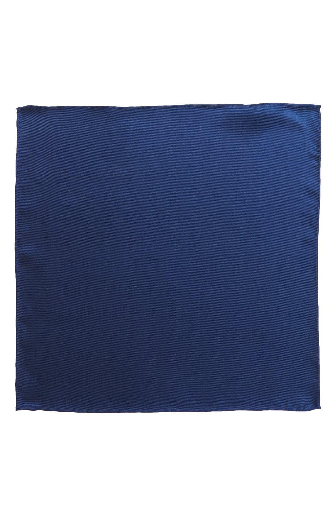 Alternate Image 2  - Nordstrom Men's Shop Solid Silk Pocket Square