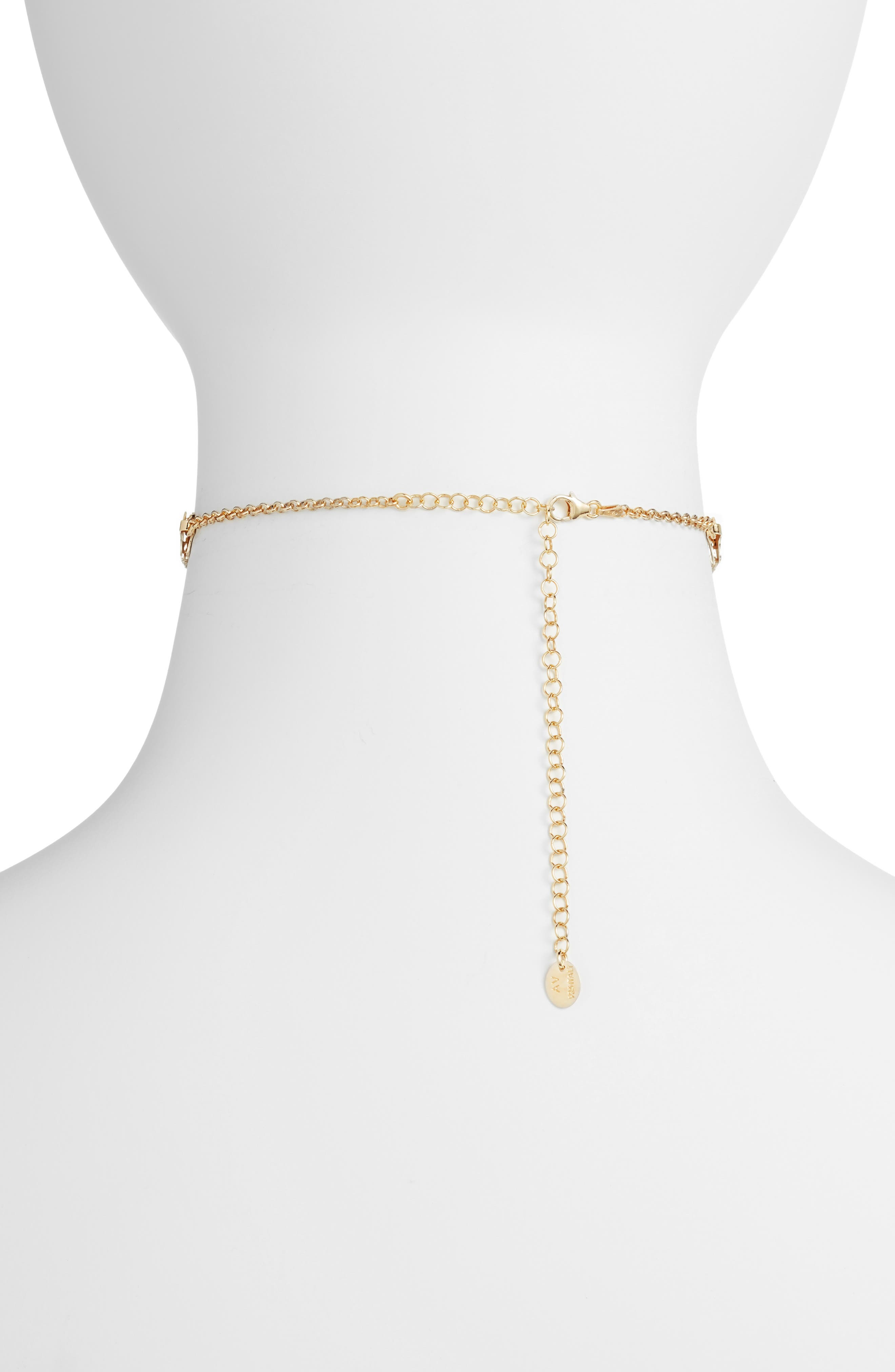 Wide Choker,                             Alternate thumbnail 2, color,                             Gold