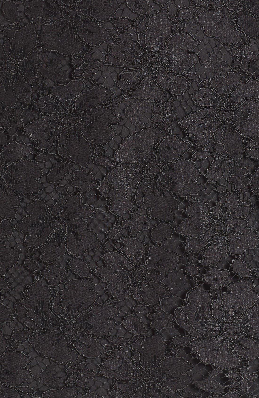 Say It Out Loud Lace Dress,                             Alternate thumbnail 9, color,                             Black