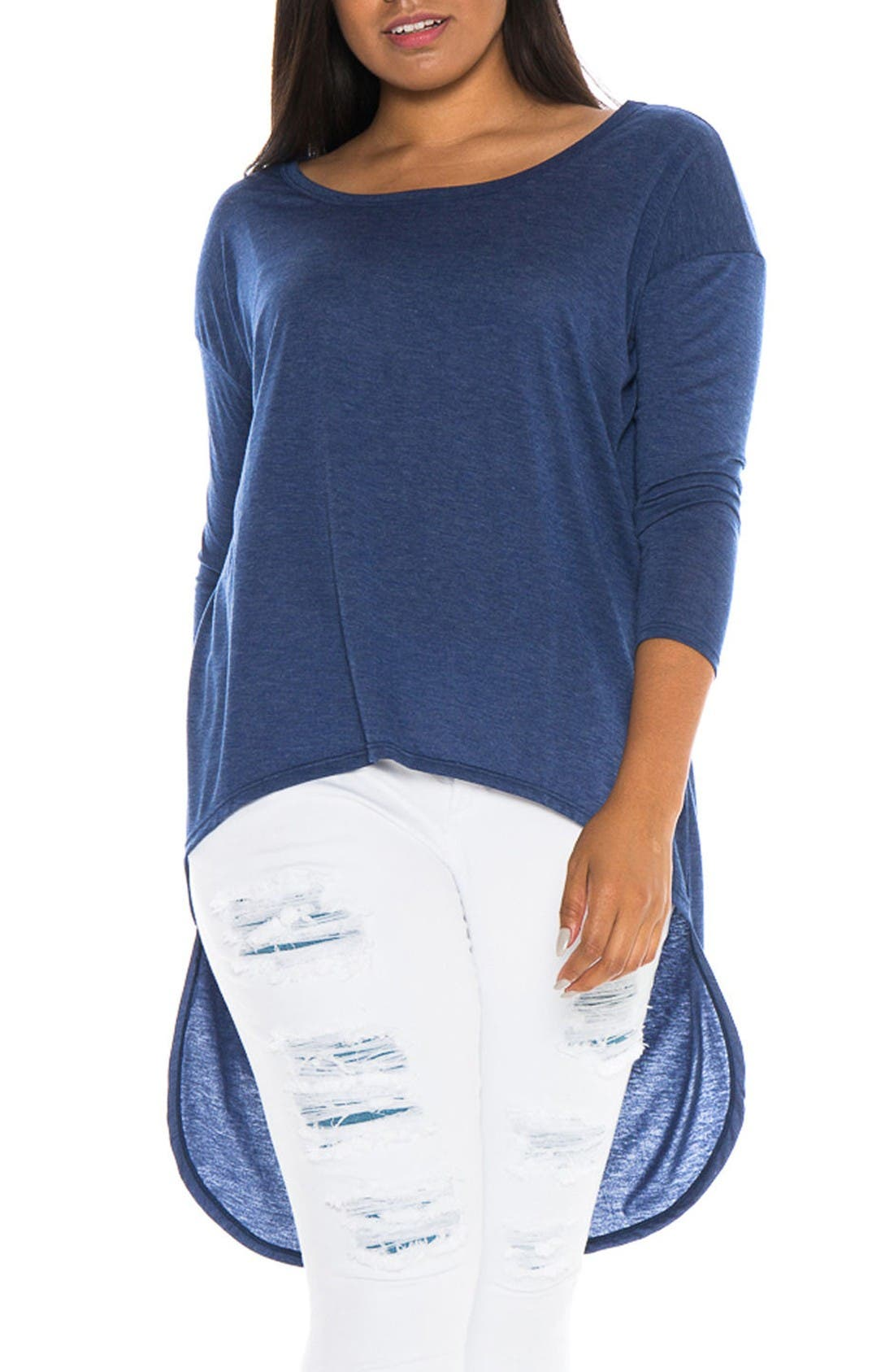 SLINK Jeans High/Low Top (Plus Size)
