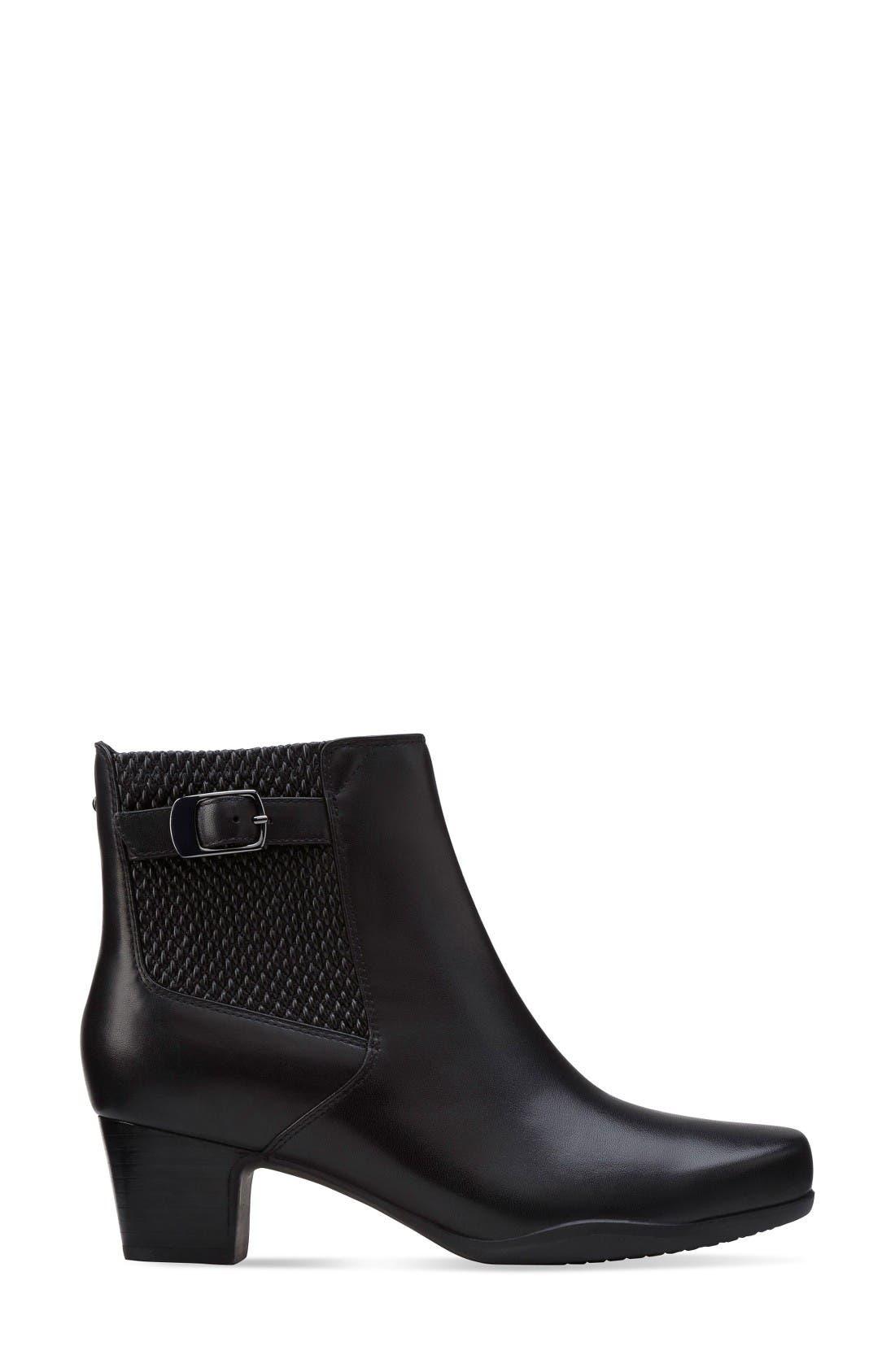 Rosalyn Lara Waterproof Boot,                             Alternate thumbnail 3, color,                             Black Leather