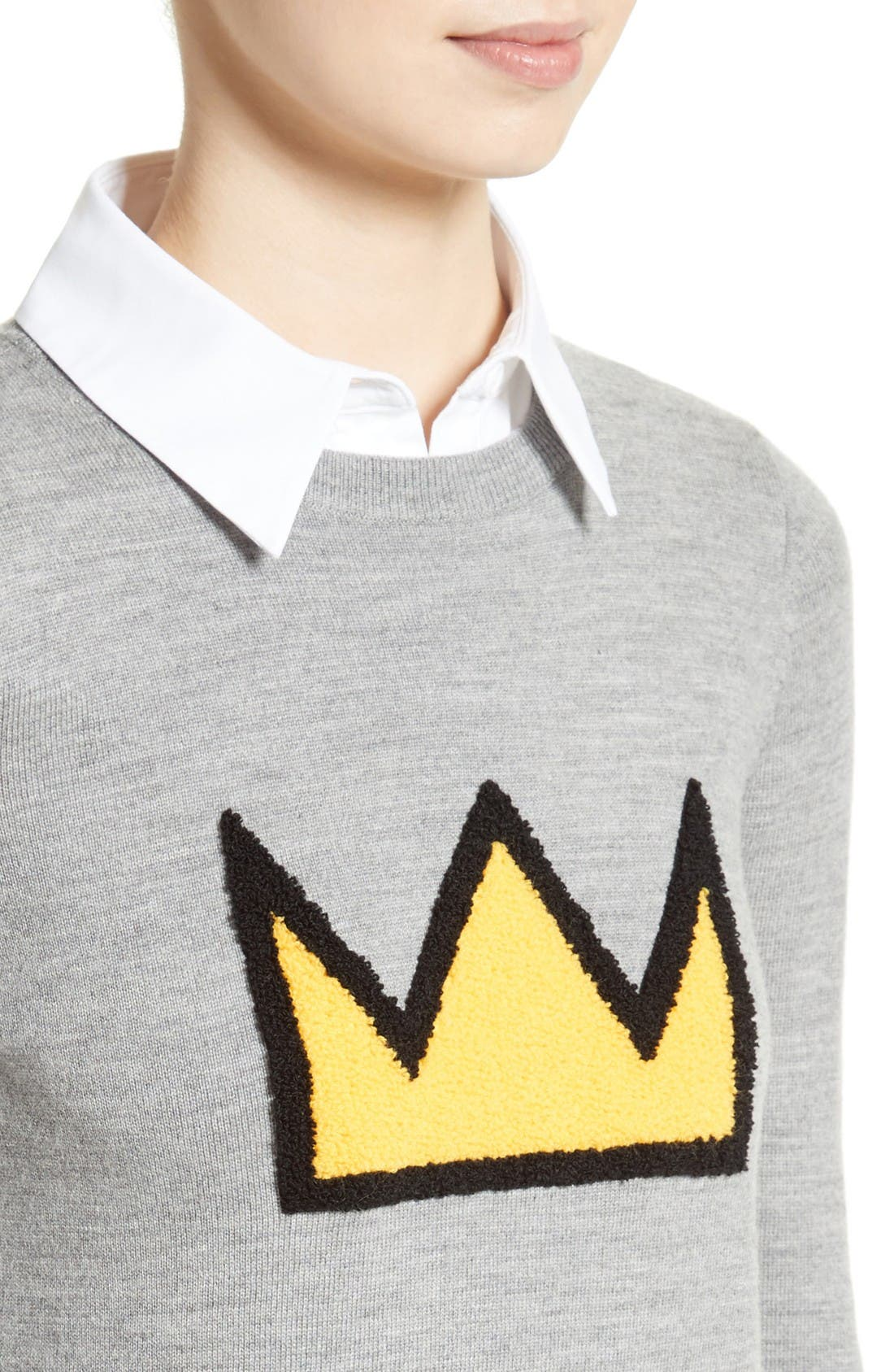 Alternate Image 4  - Alice + Olivia Nikia Layered Look Crown Sweater