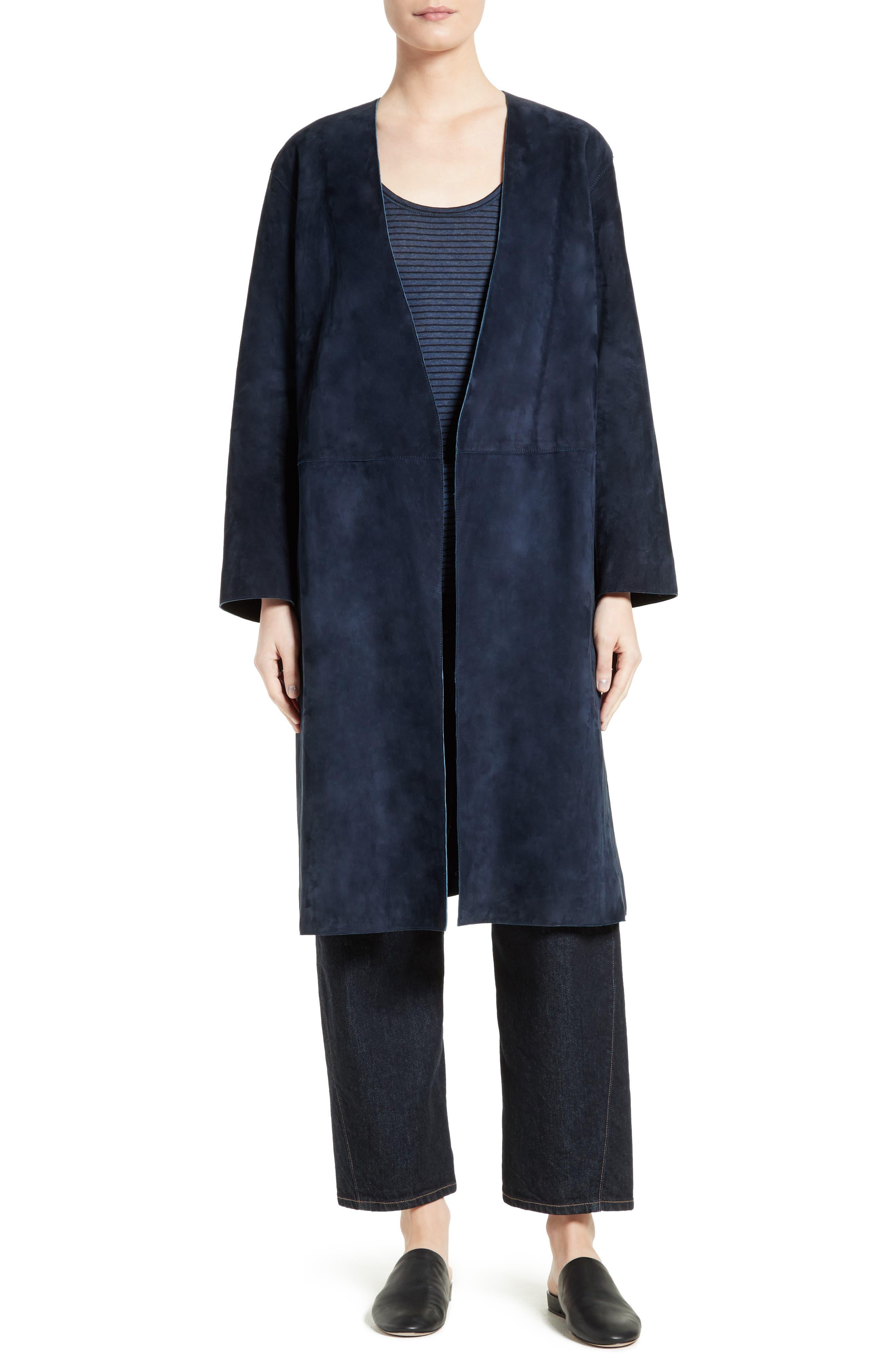 Alternate Image 7  - Vince Suede Robe Coat