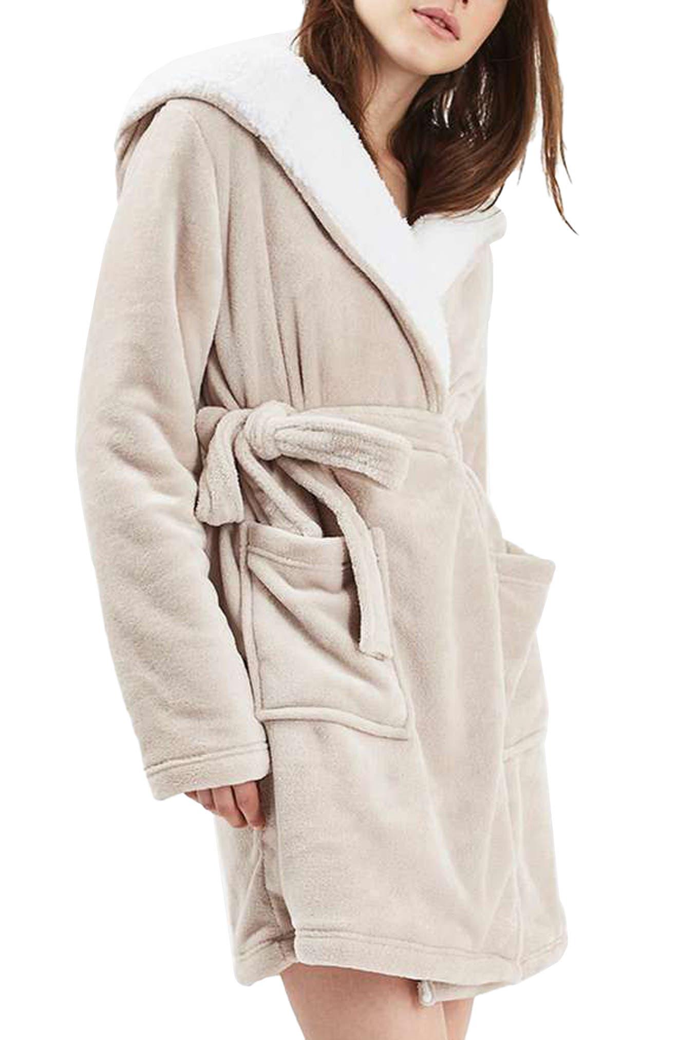 Alternate Image 1 Selected - Topshop Pug Hood Robe