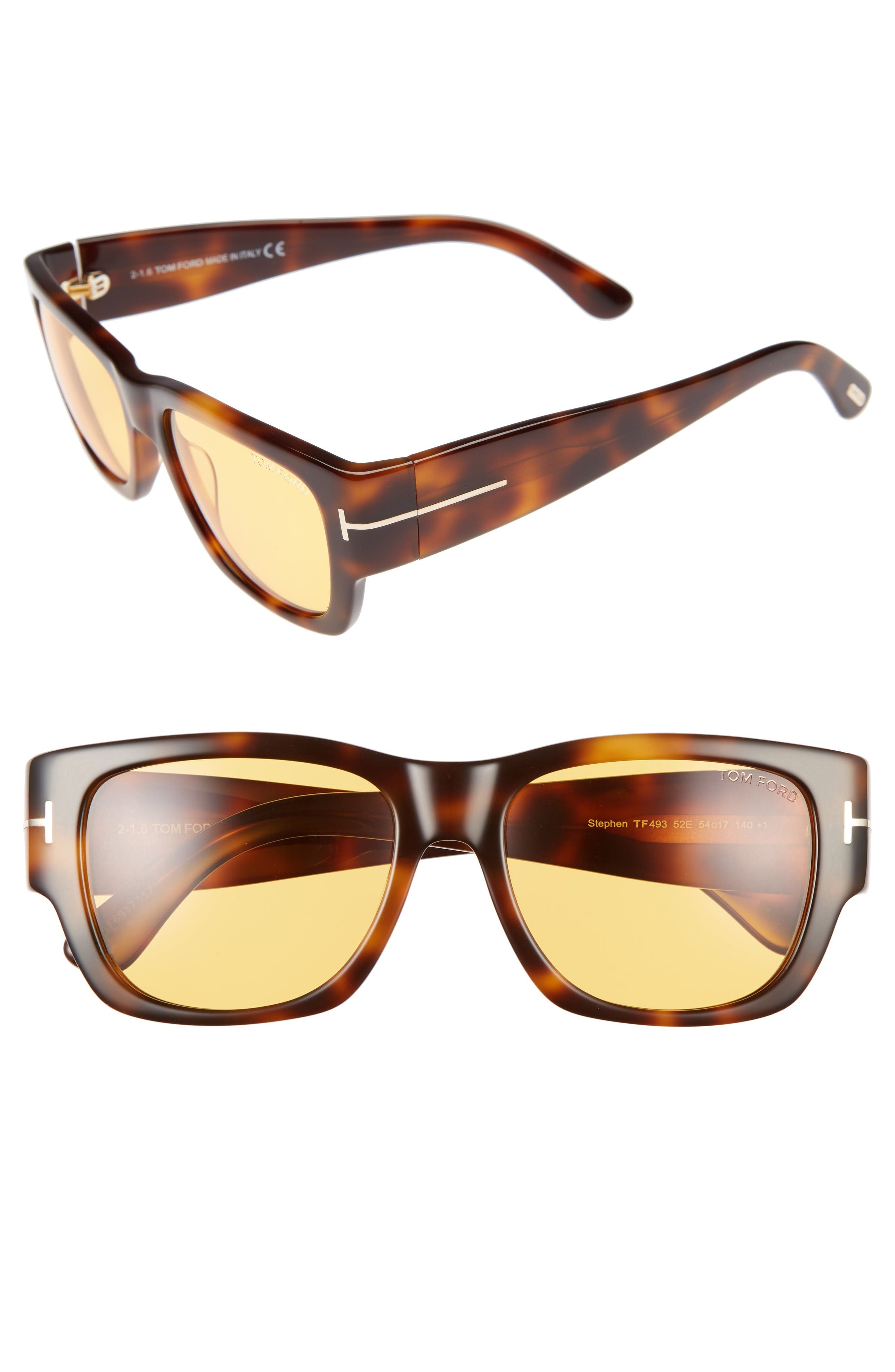 TOM FORD Stephen 54mm Retro Sunglasses