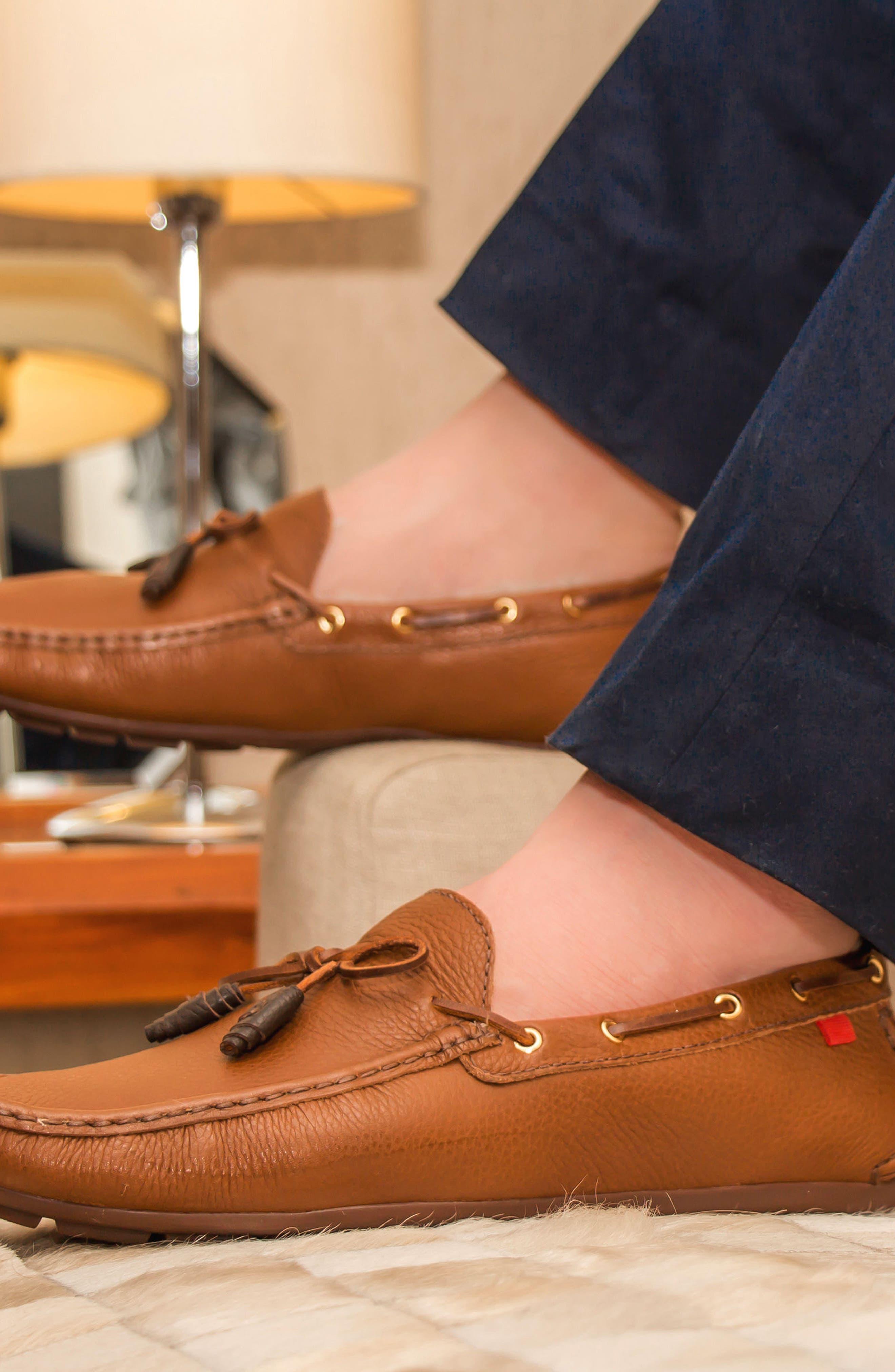 Alternate Image 5  - Marc Joseph New York 'Rockefeller' Genuine Shearling Lined Driving Shoe (Men)