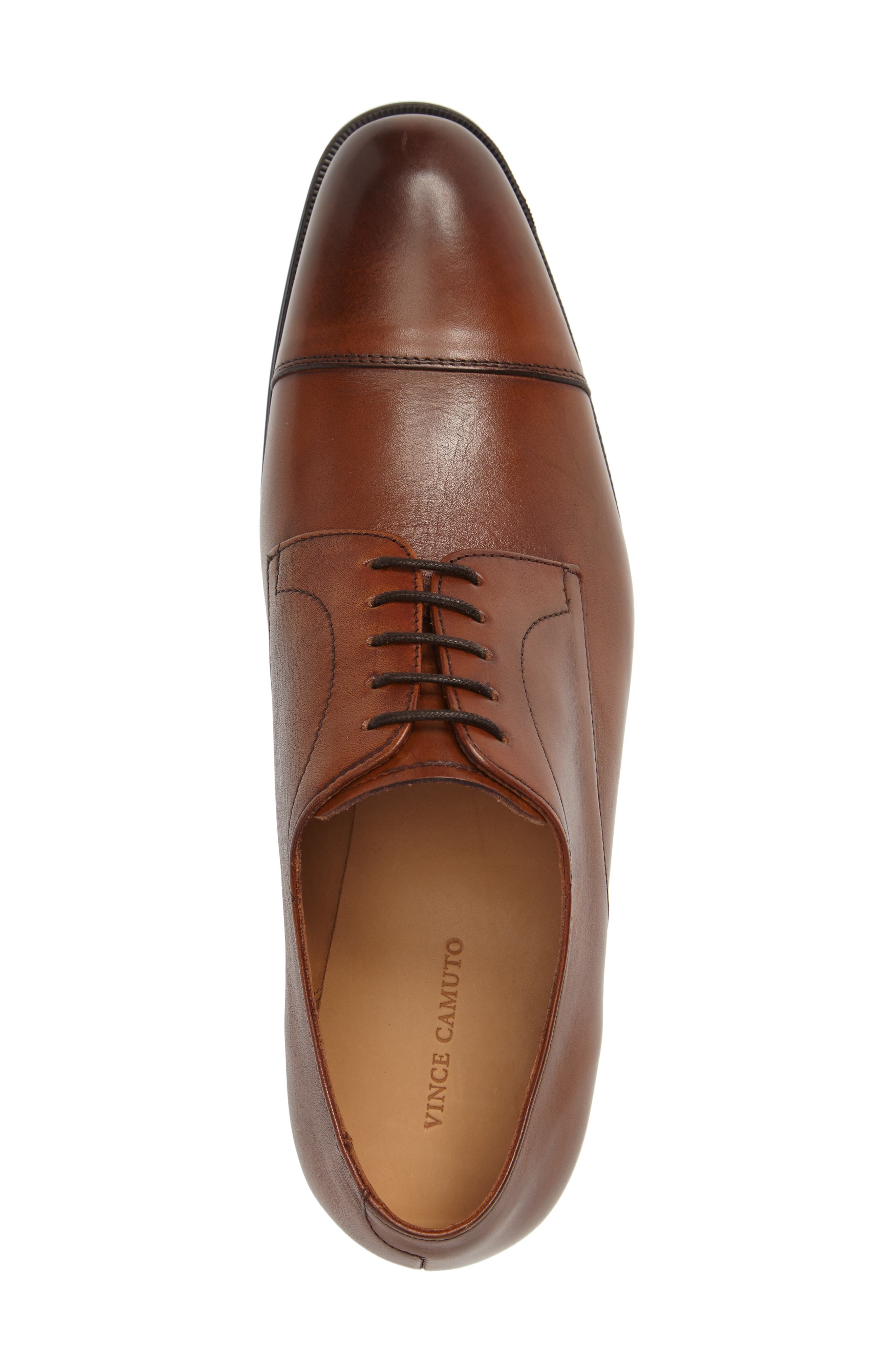 Tosto Cap Toe Derby,                             Alternate thumbnail 3, color,                             Luggage Leather