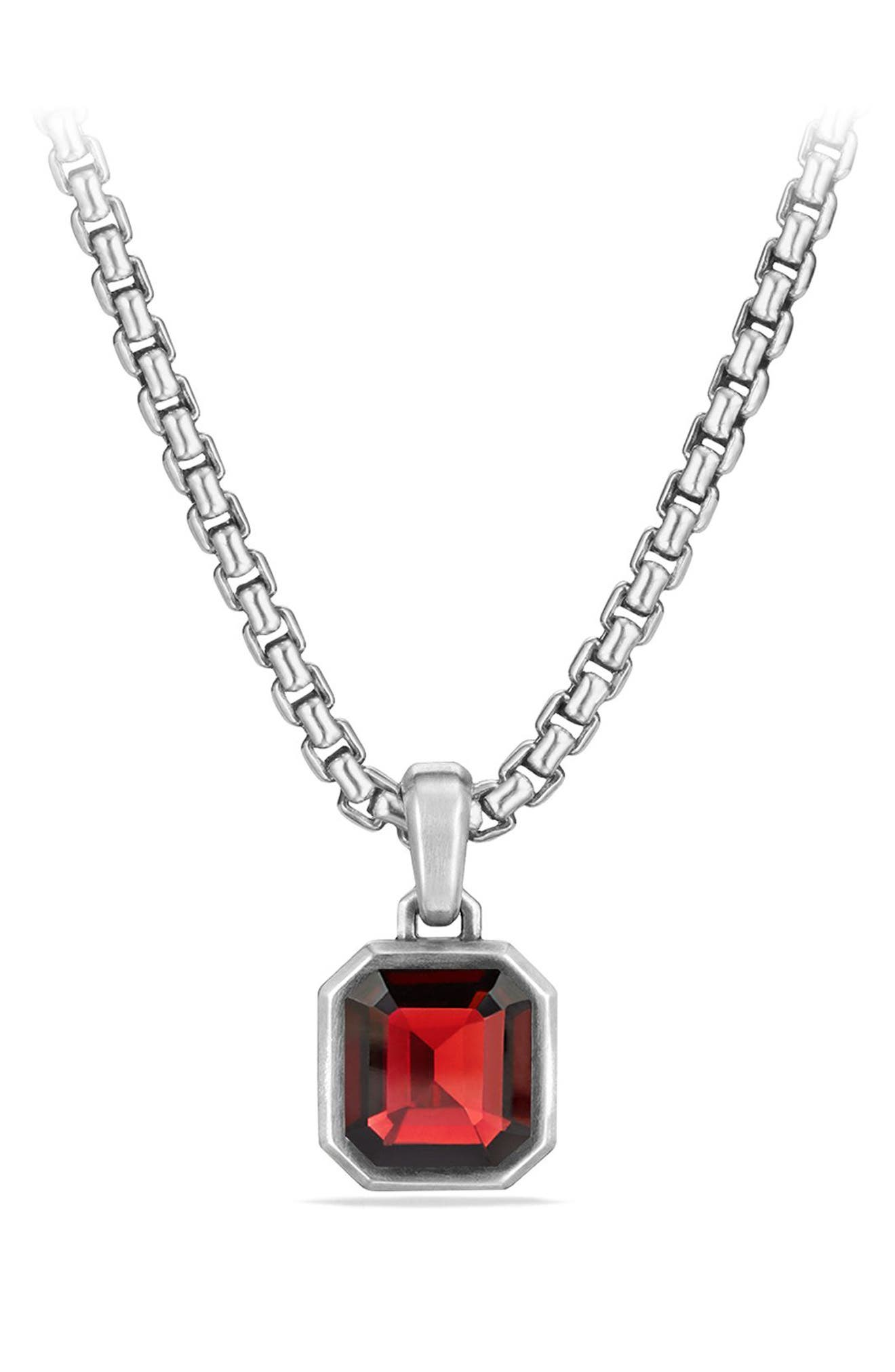 DAVID YURMAN Emerald Cut Semiprecious Stone Amulet