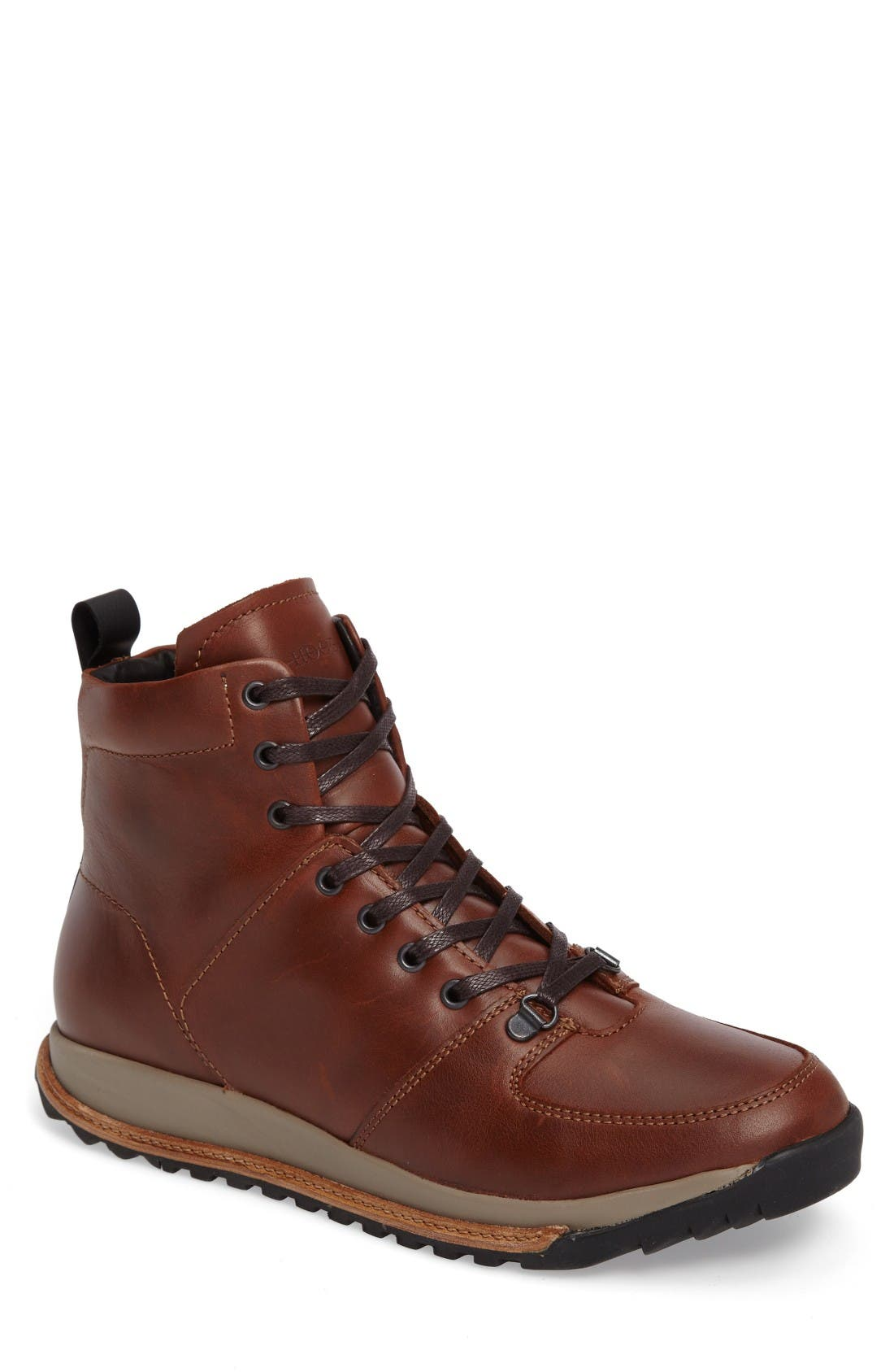 Concord Mid Top Wool Cuffed Waterproof Boot,                             Main thumbnail 1, color,                             Seahorse Leather