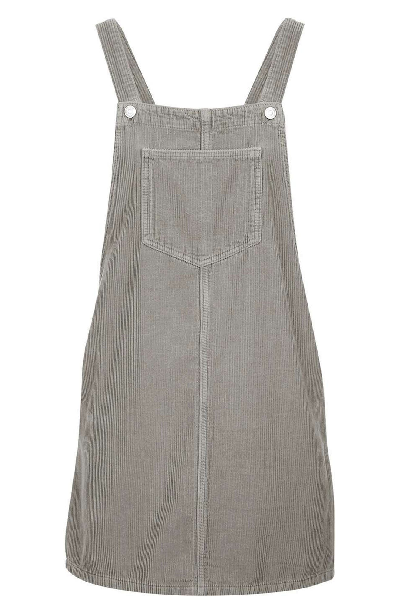 Alternate Image 4  - Topshop Moto Corduroy Pinafore Dress