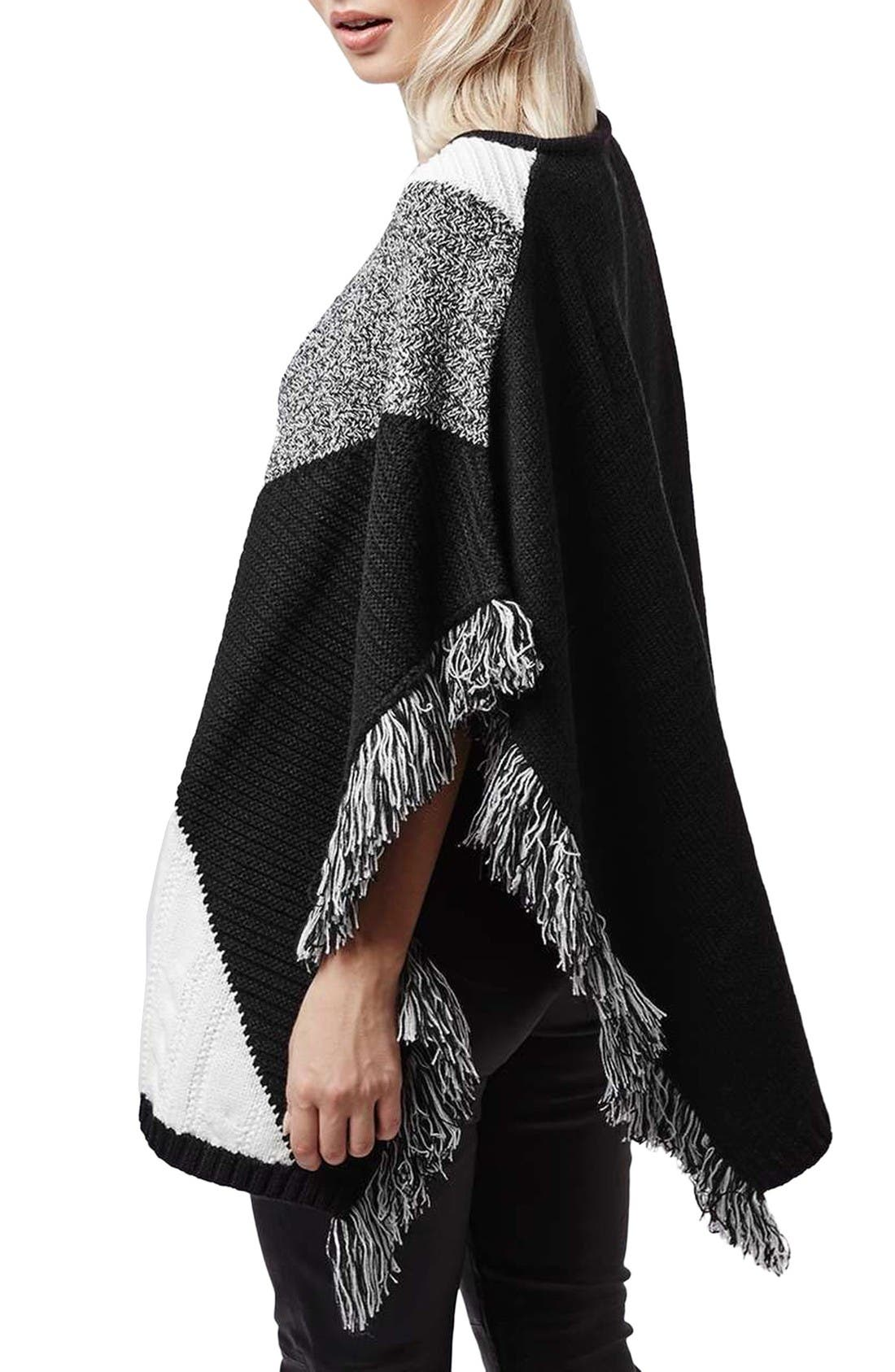 Alternate Image 2  - Topshop Colorblock Poncho