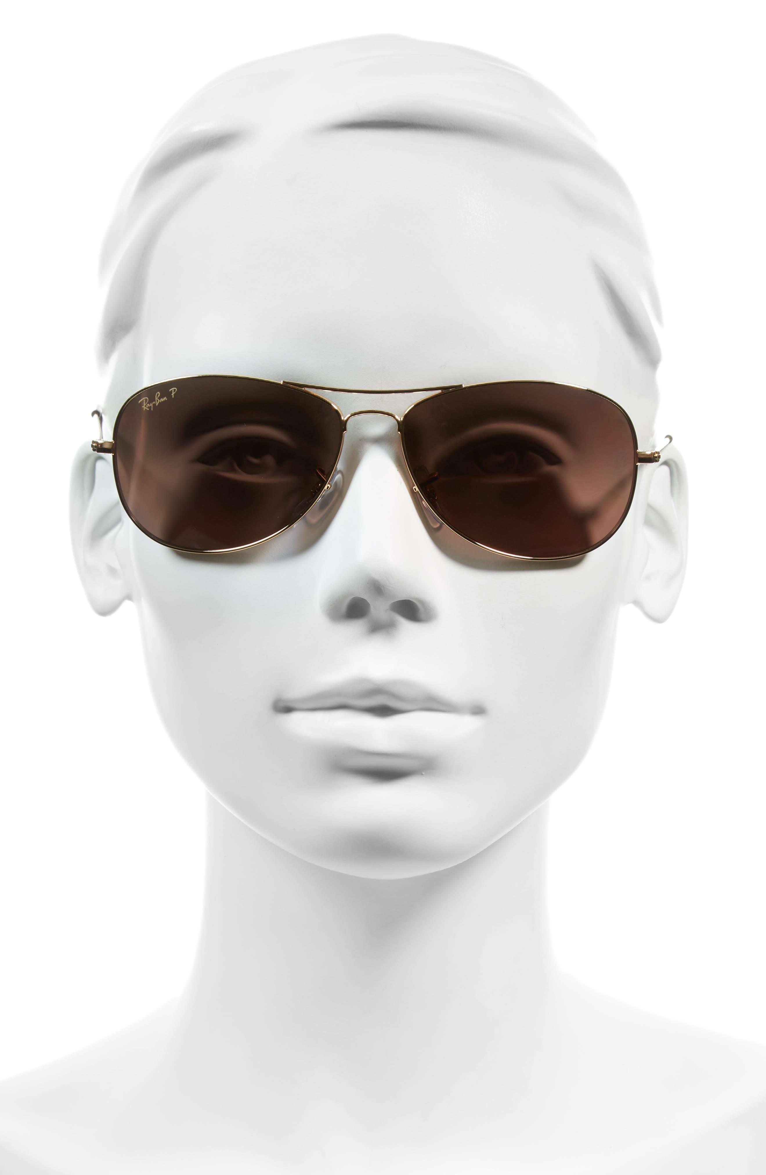 Tech 59mm Polarized Sunglasses,                             Alternate thumbnail 2, color,                             Gold/ Purple