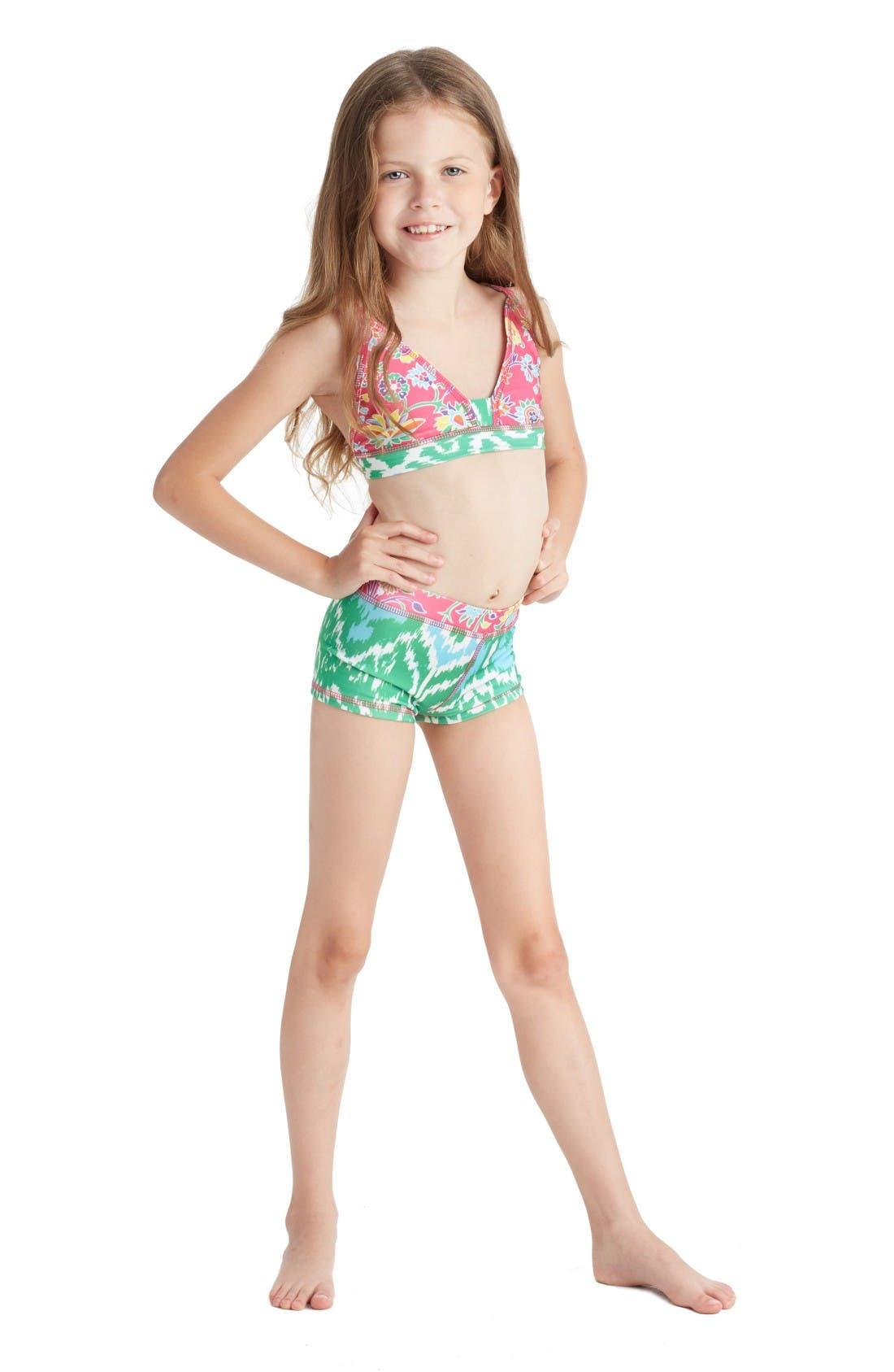 Alternate Image 2  - Masalababy Two-Piece Swimsuit (Toddler Girls, Little Girls & Big Girls)