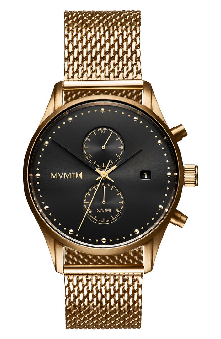 Mvmt voyager chronograph mesh strap watch 42mm nordstrom for Wacthes mvmt