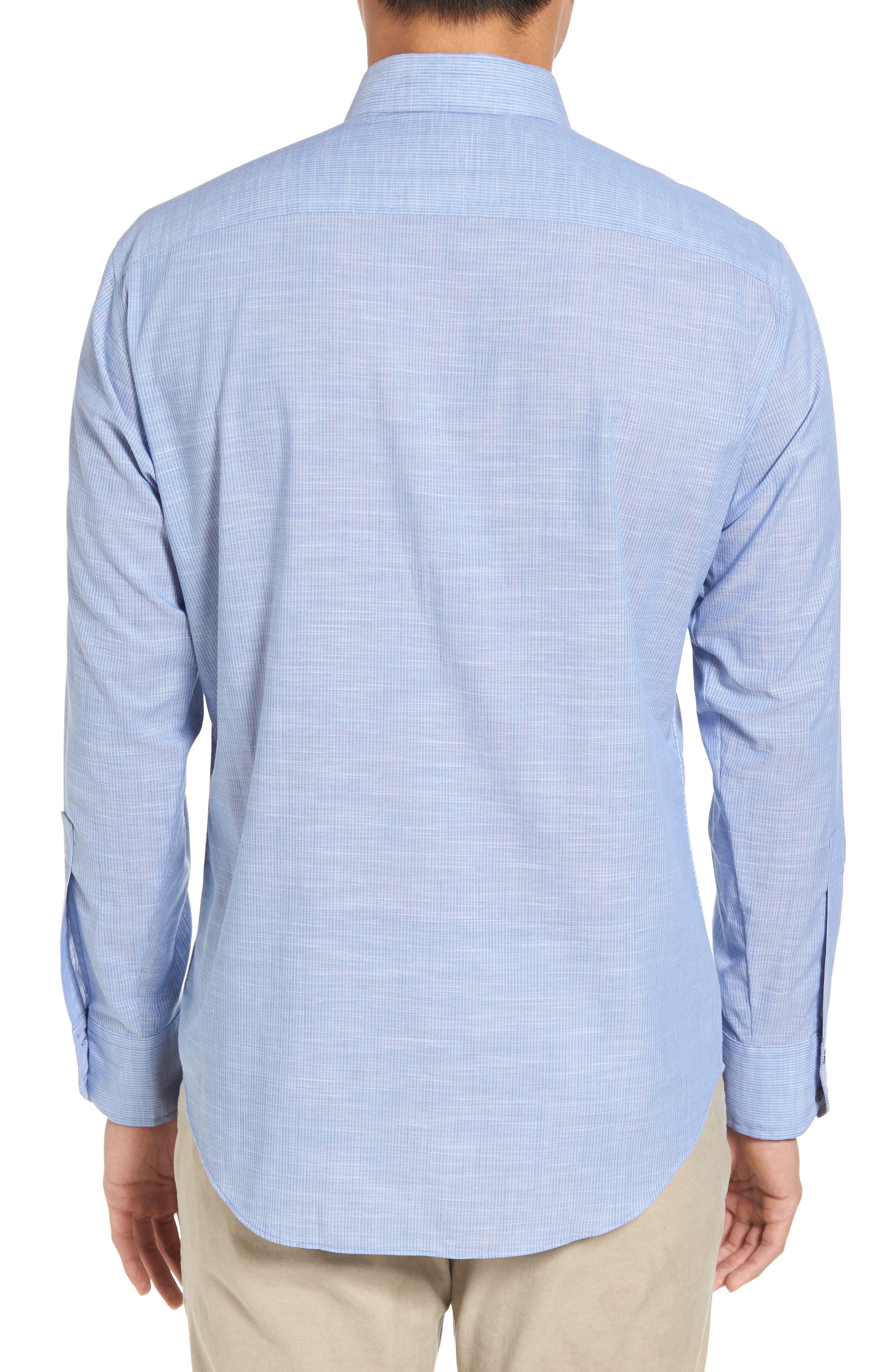 Alternate Image 2  - Zachary Prell Ronan Trim Fit Stripe Sport Shirt