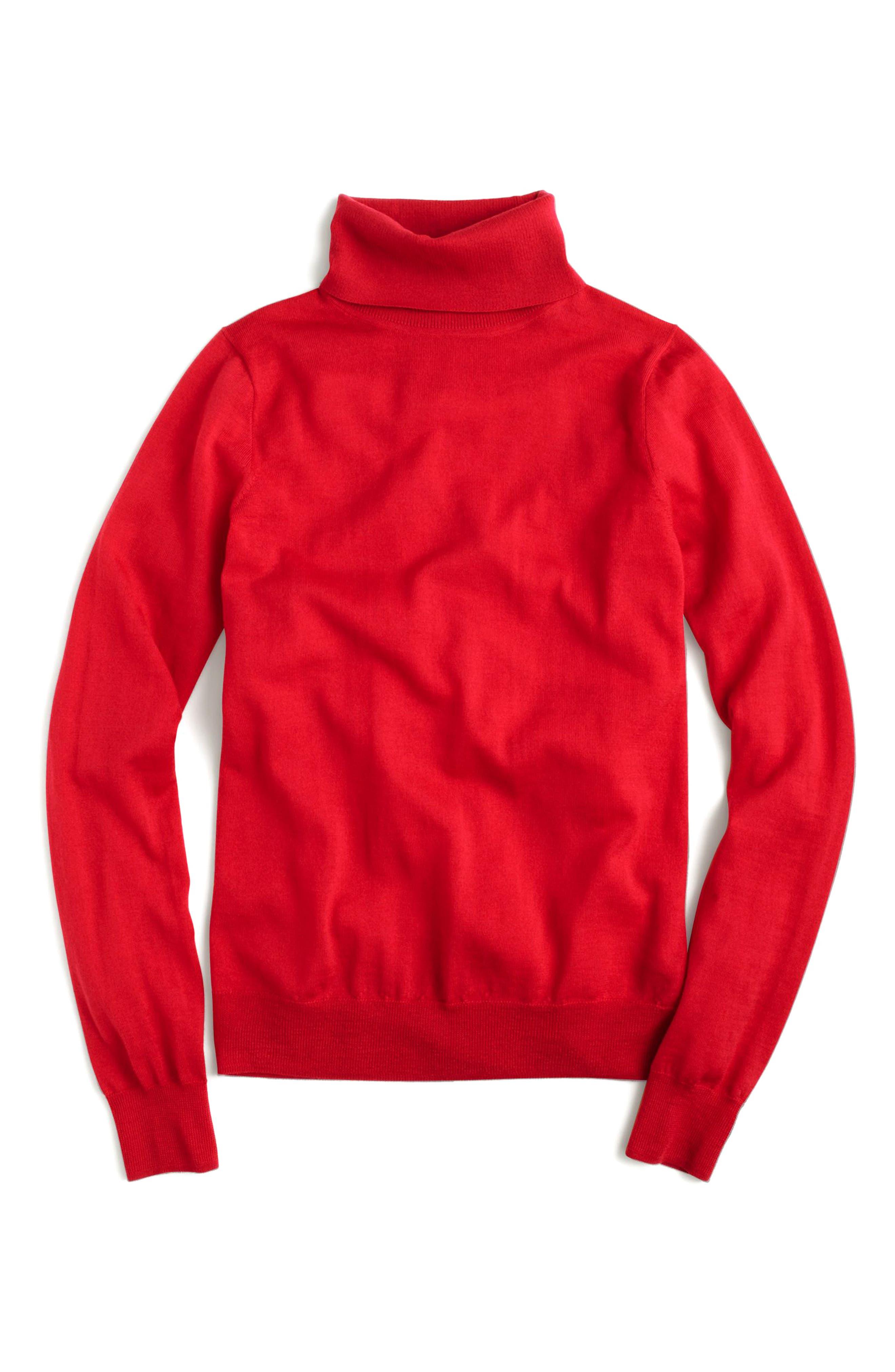 Tippi Turtleneck Sweater,                         Main,                         color, Dark Poppy