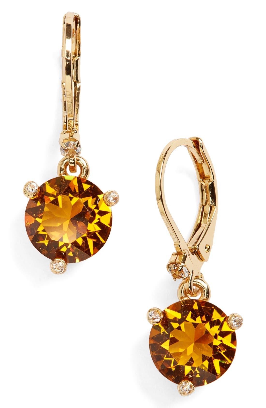 'rise and shine' lever back earrings,                         Main,                         color, Topaz
