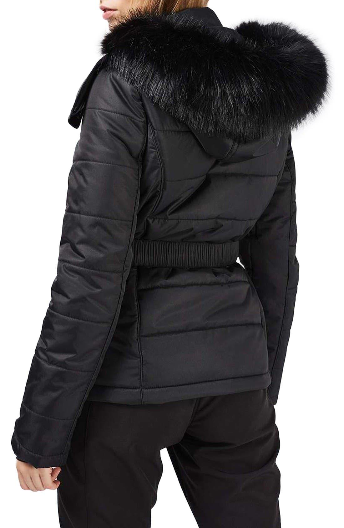 Alternate Image 3  - Topshop Bowie Faux Fur Trim Ski Jacket