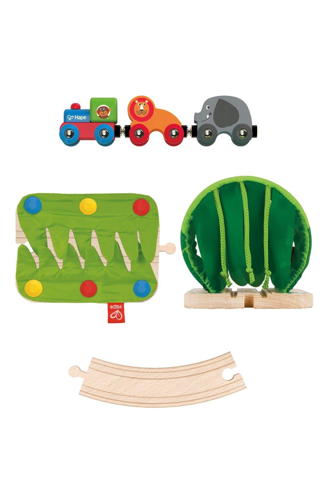 Jungle Train Journey Wooden Train Set,                             Alternate thumbnail 3, color,                             Multi