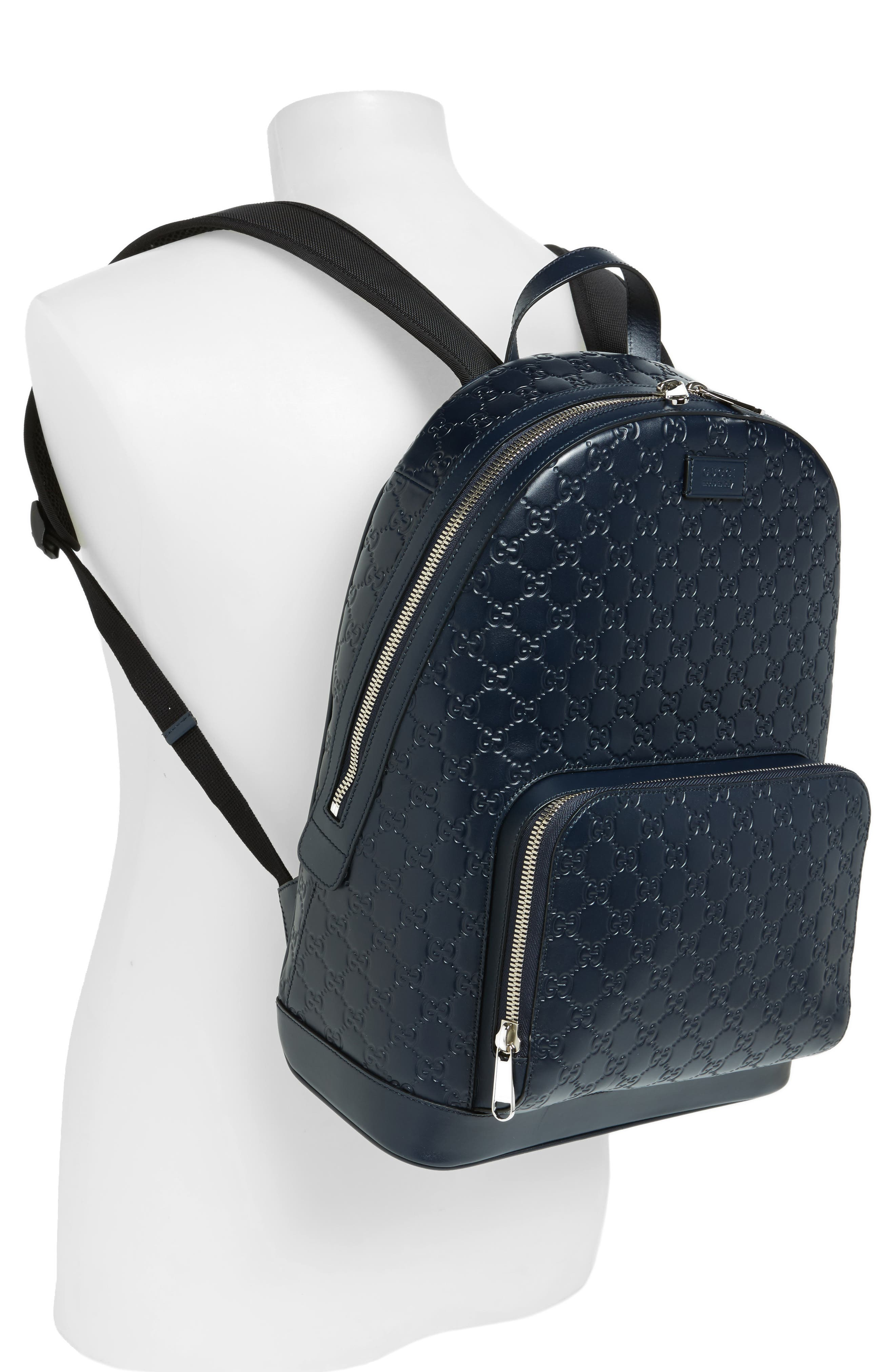 Alternate Image 2  - Gucci Embossed Leather Backpack
