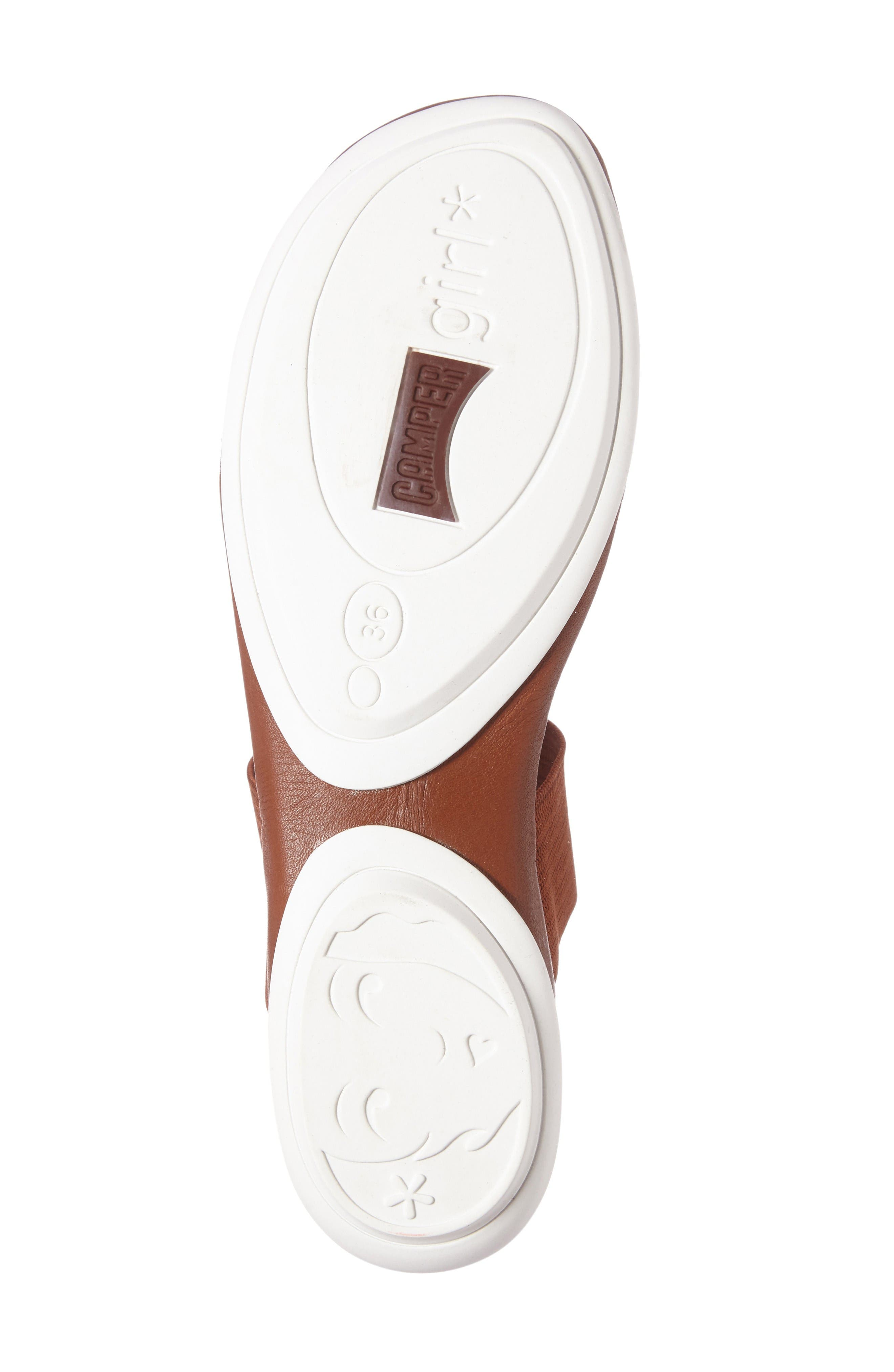 'Right Nina' Sandal,                             Alternate thumbnail 4, color,                             Brown Leather