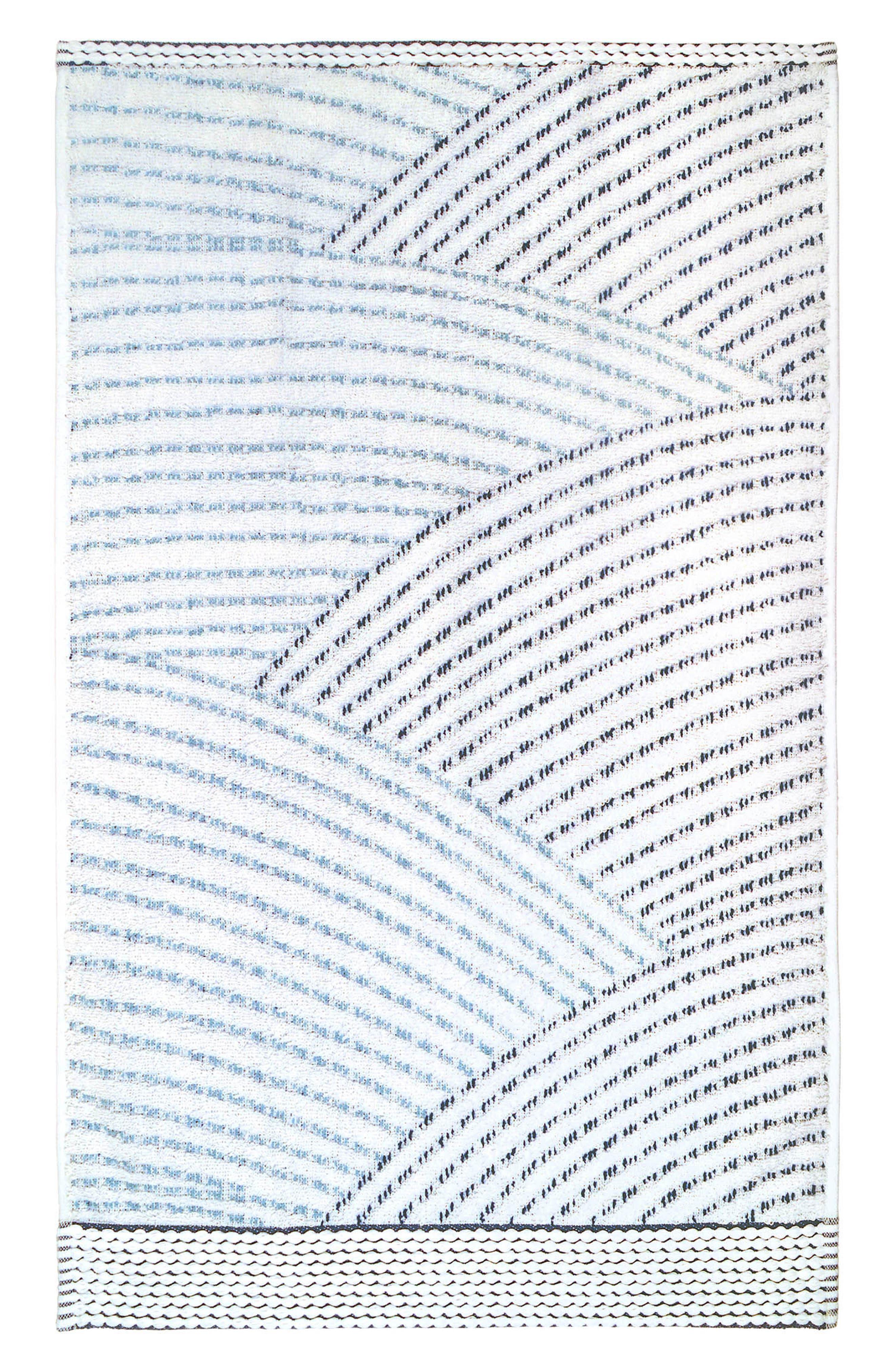 Sazid Hand Towel,                             Main thumbnail 1, color,                             Indigo/ Slate