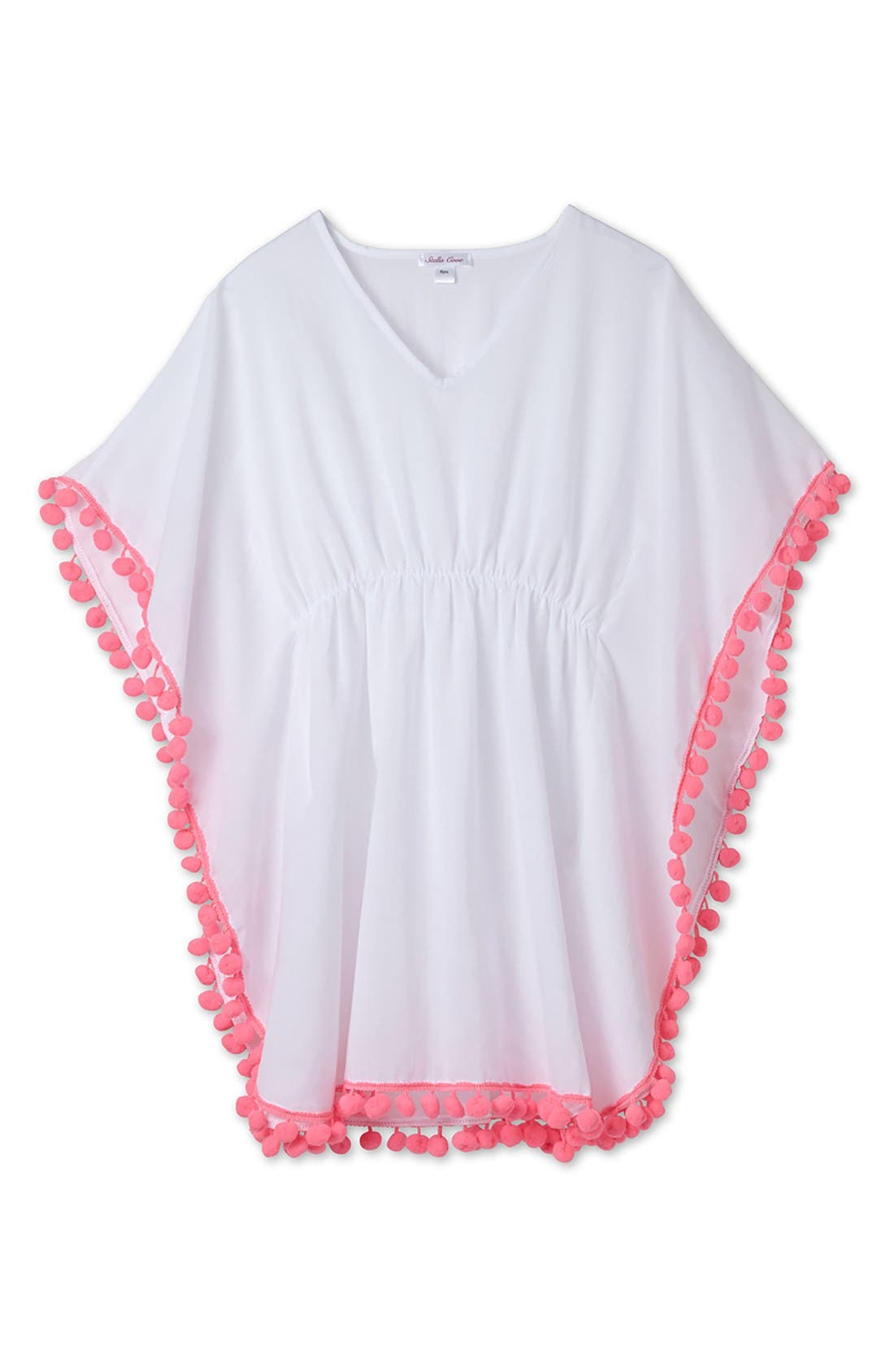 Main Image - Stella Cove Pompom Cover-Up Poncho (Toddler Girls, Little Girls & Big Girls)