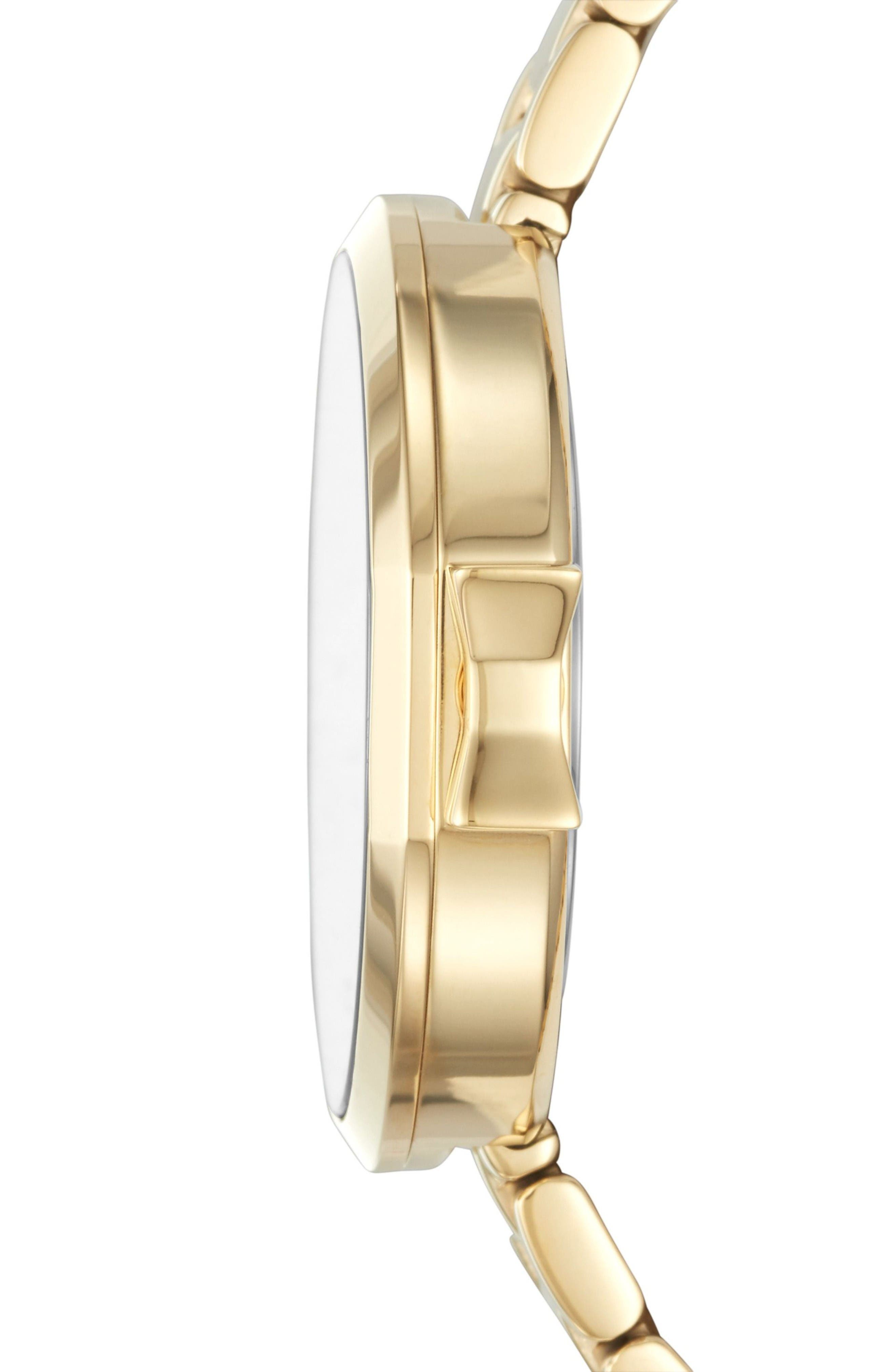 park row bracelet watch, 34mm,                             Alternate thumbnail 3, color,                             Gold/ Mother Of Pearl