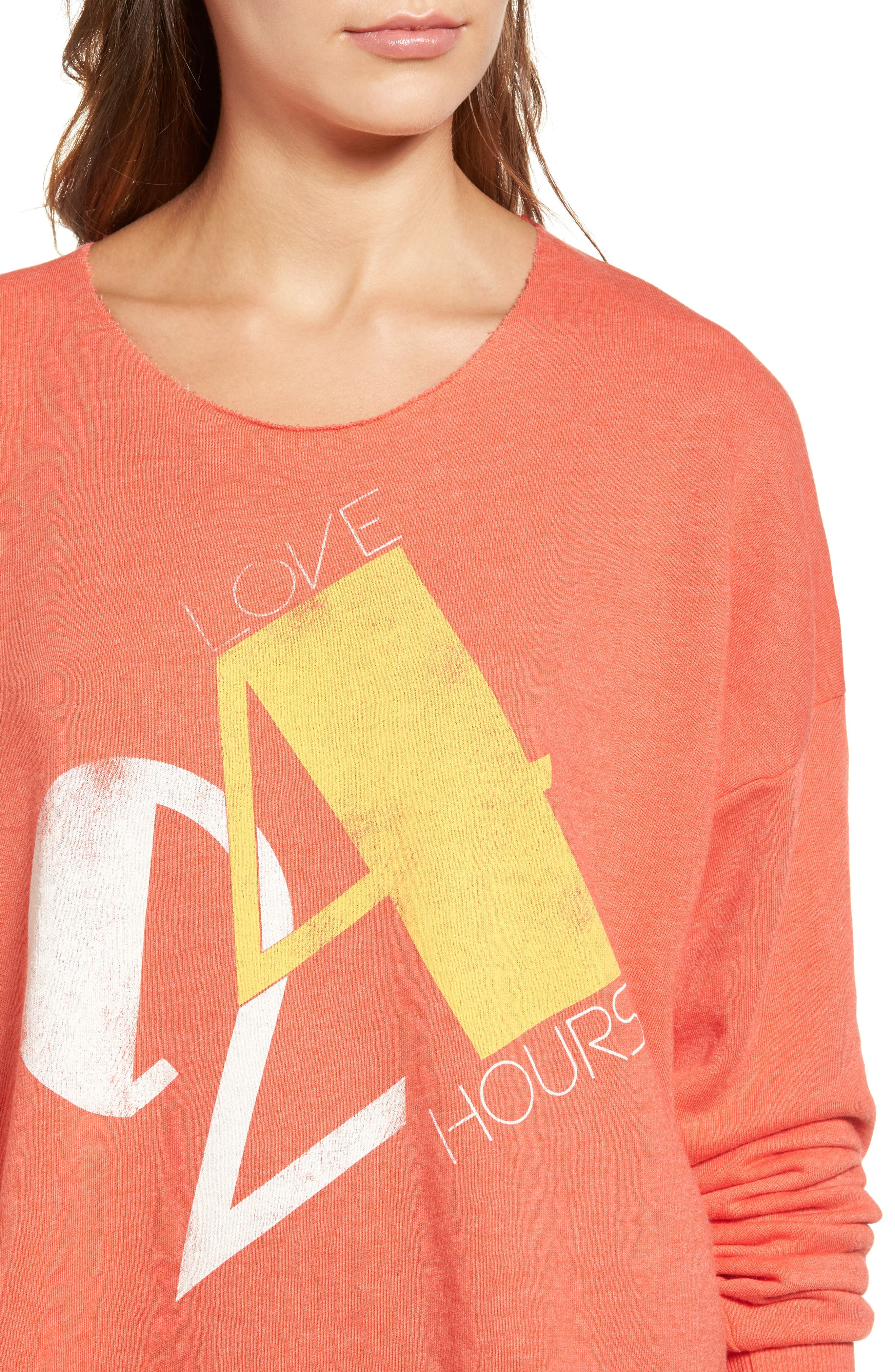 Love 24/7 Sweatshirt,                             Alternate thumbnail 5, color,                             Electric Red