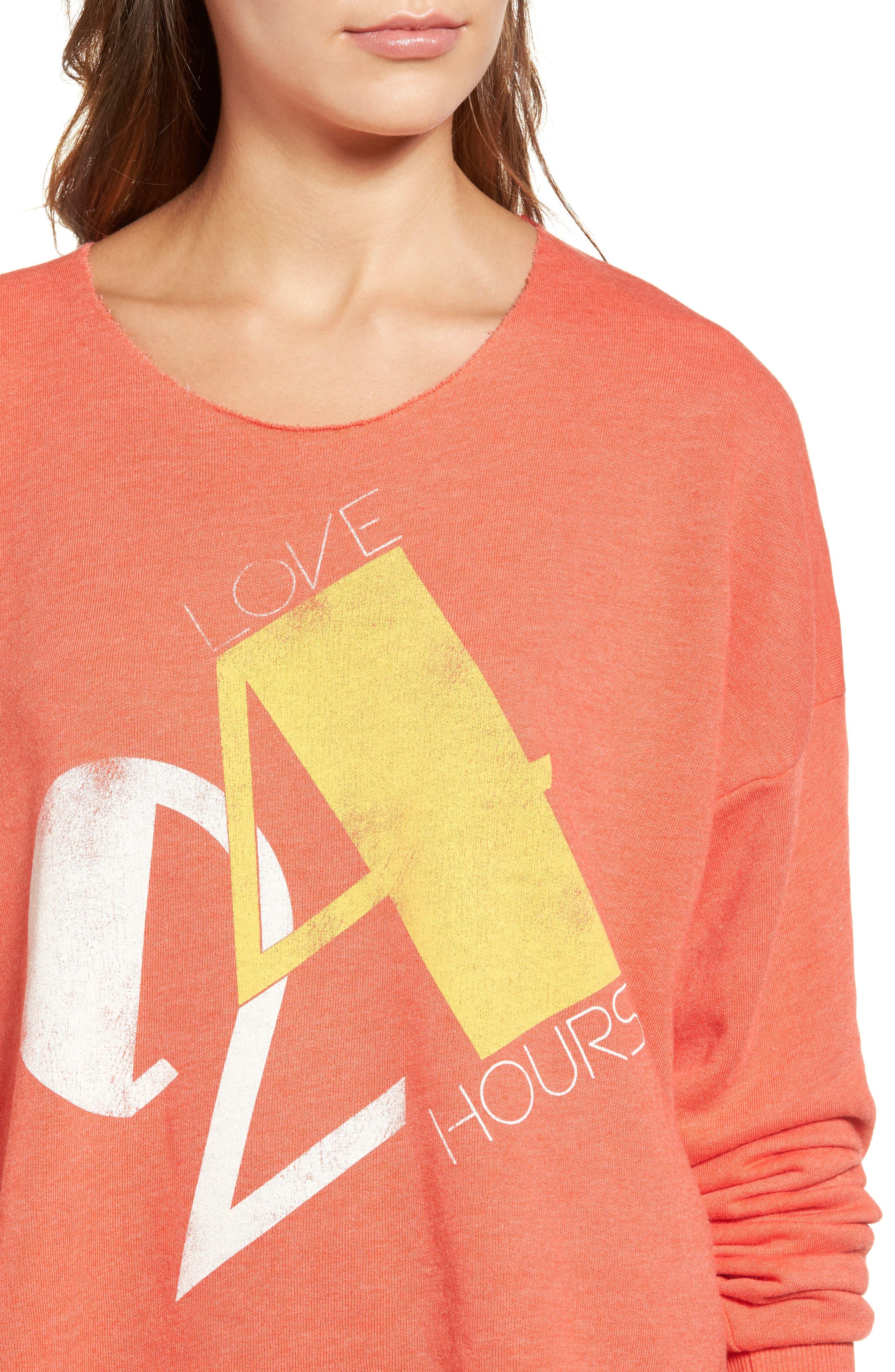 Alternate Image 5  - Wildfox Love 24/7 Sweatshirt