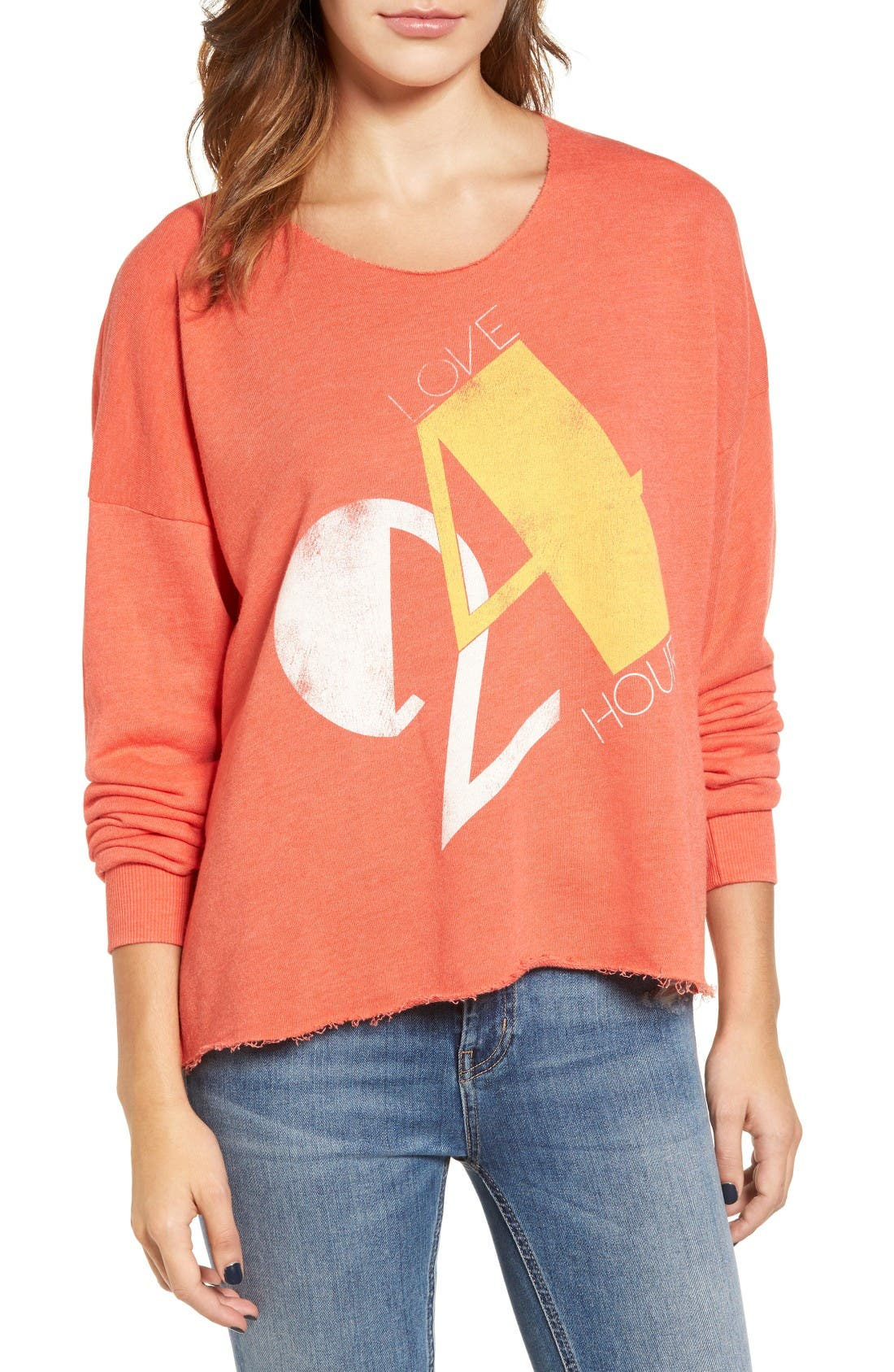 Love 24/7 Sweatshirt,                         Main,                         color, Electric Red
