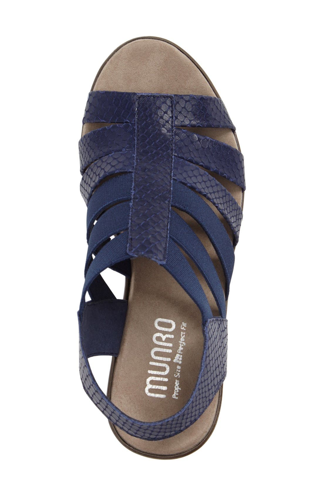 'Cookie' Slingback Sandal,                             Alternate thumbnail 3, color,                             Blue Leather