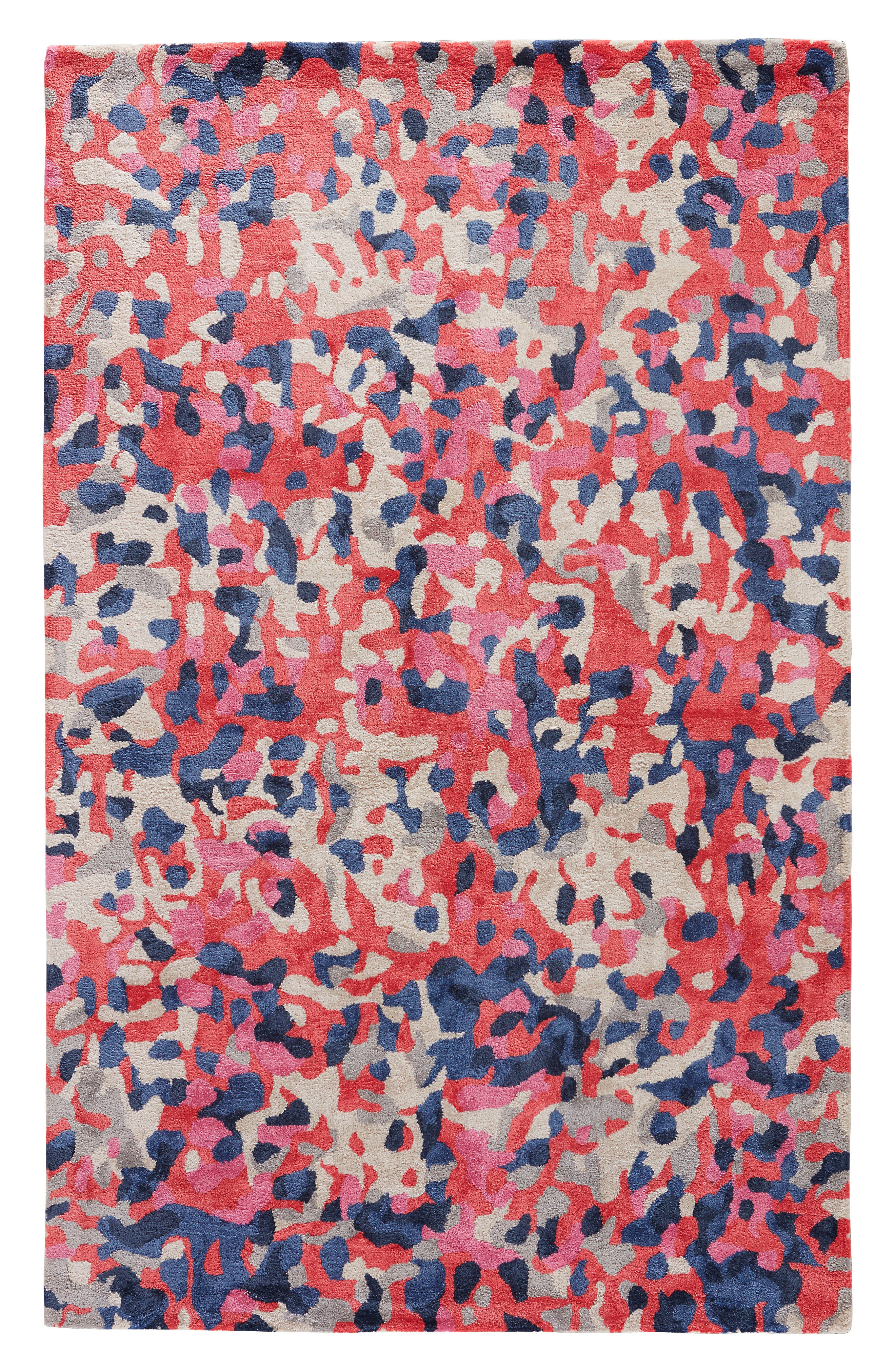 splatter paint rug,                             Main thumbnail 1, color,                             Pink/ Multi