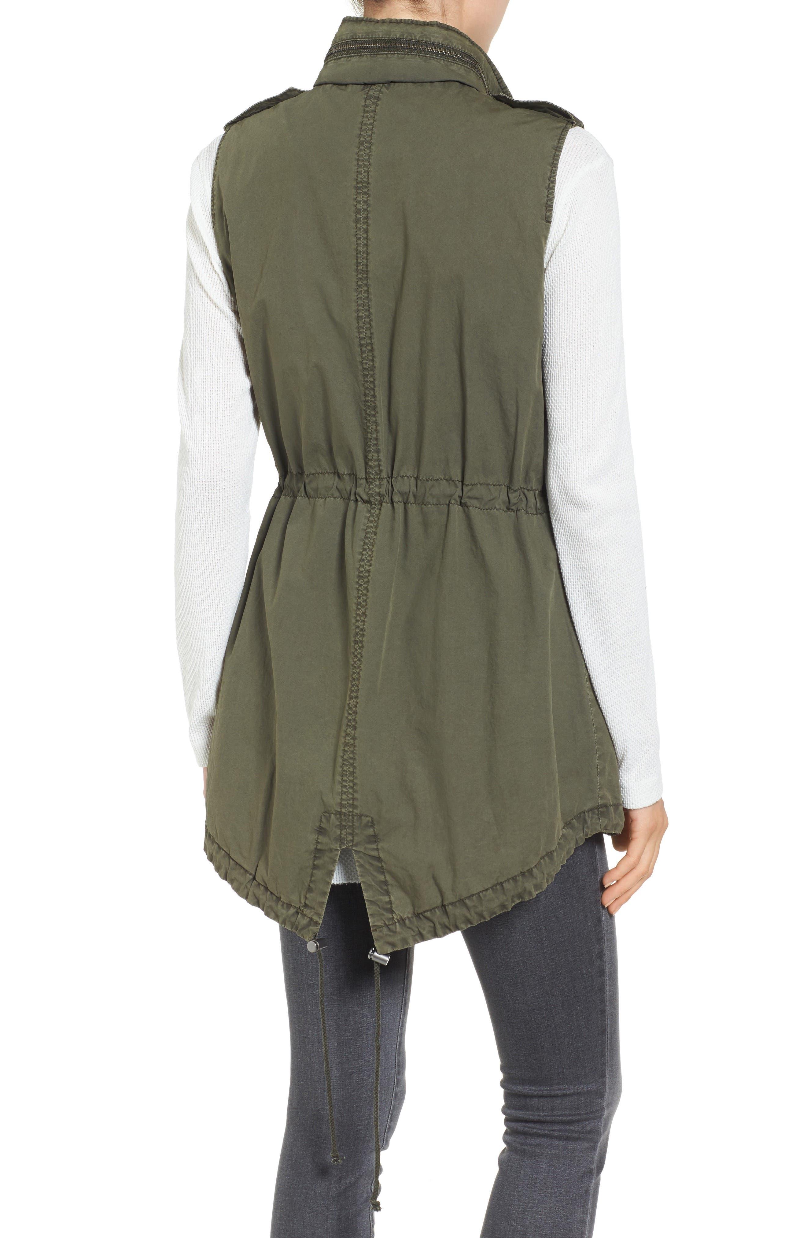Levi's Parachute Cotton Vest,                             Alternate thumbnail 2, color,                             Army Green