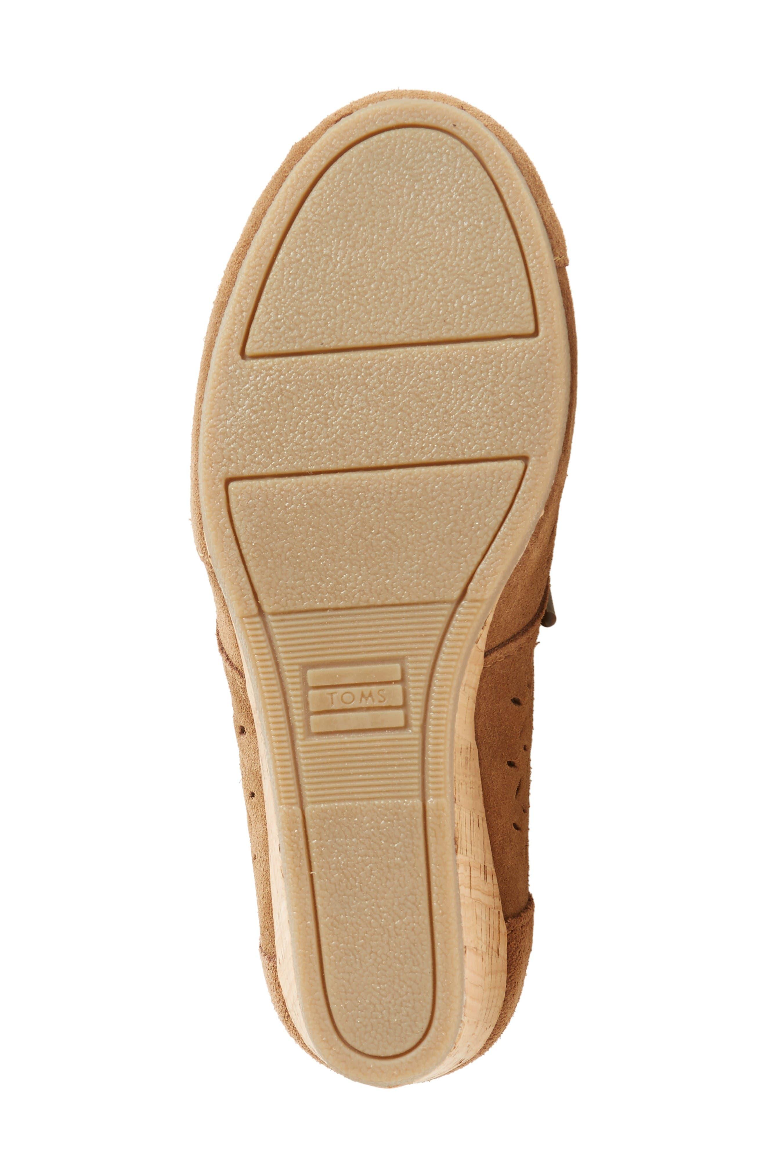 Alternate Image 4  - TOMS Perforated Chukka Wedge Boot (Women)