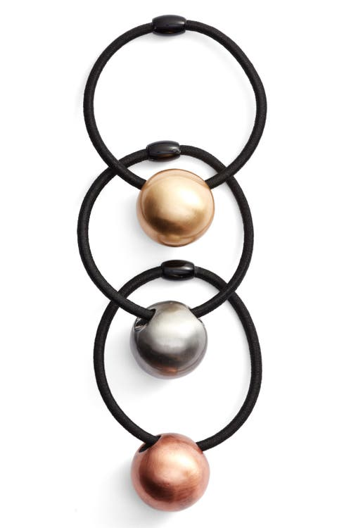 Main Image - Tasha 3-Pack Ball Charm Ponytail Holders