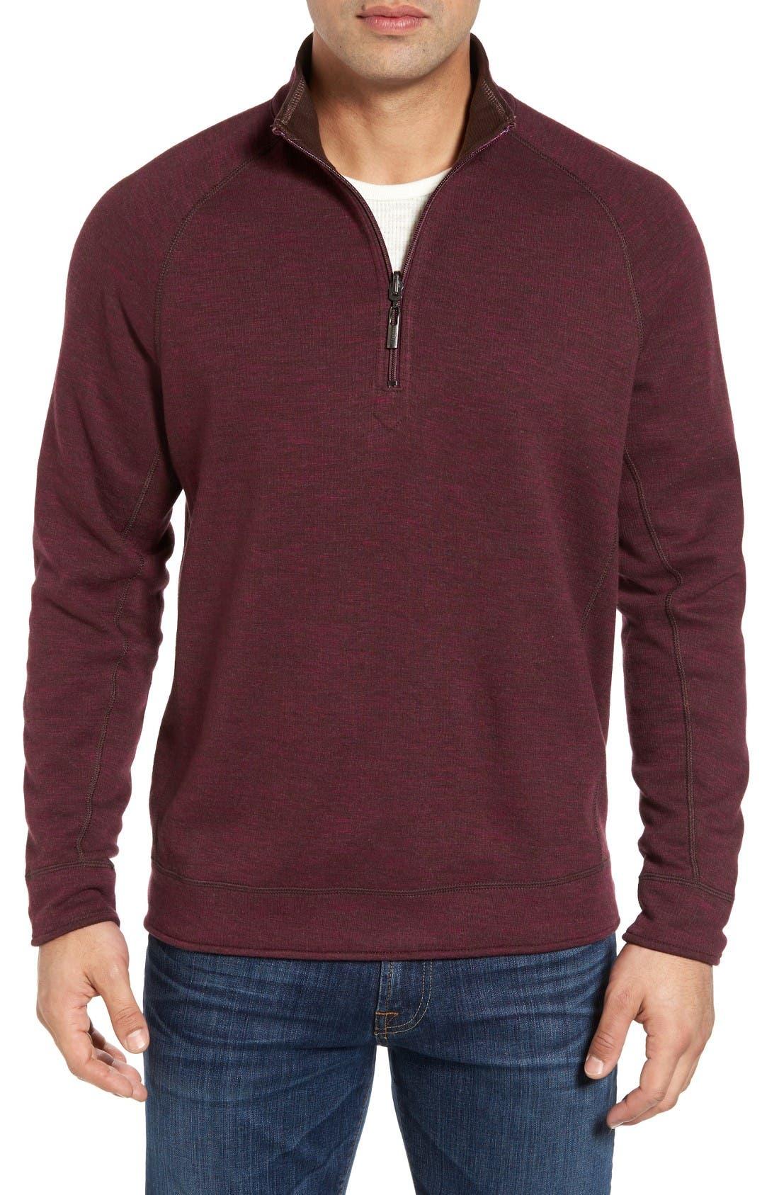 TOMMY BAHAMA Slubtropics Reversible Half Zip Pullover