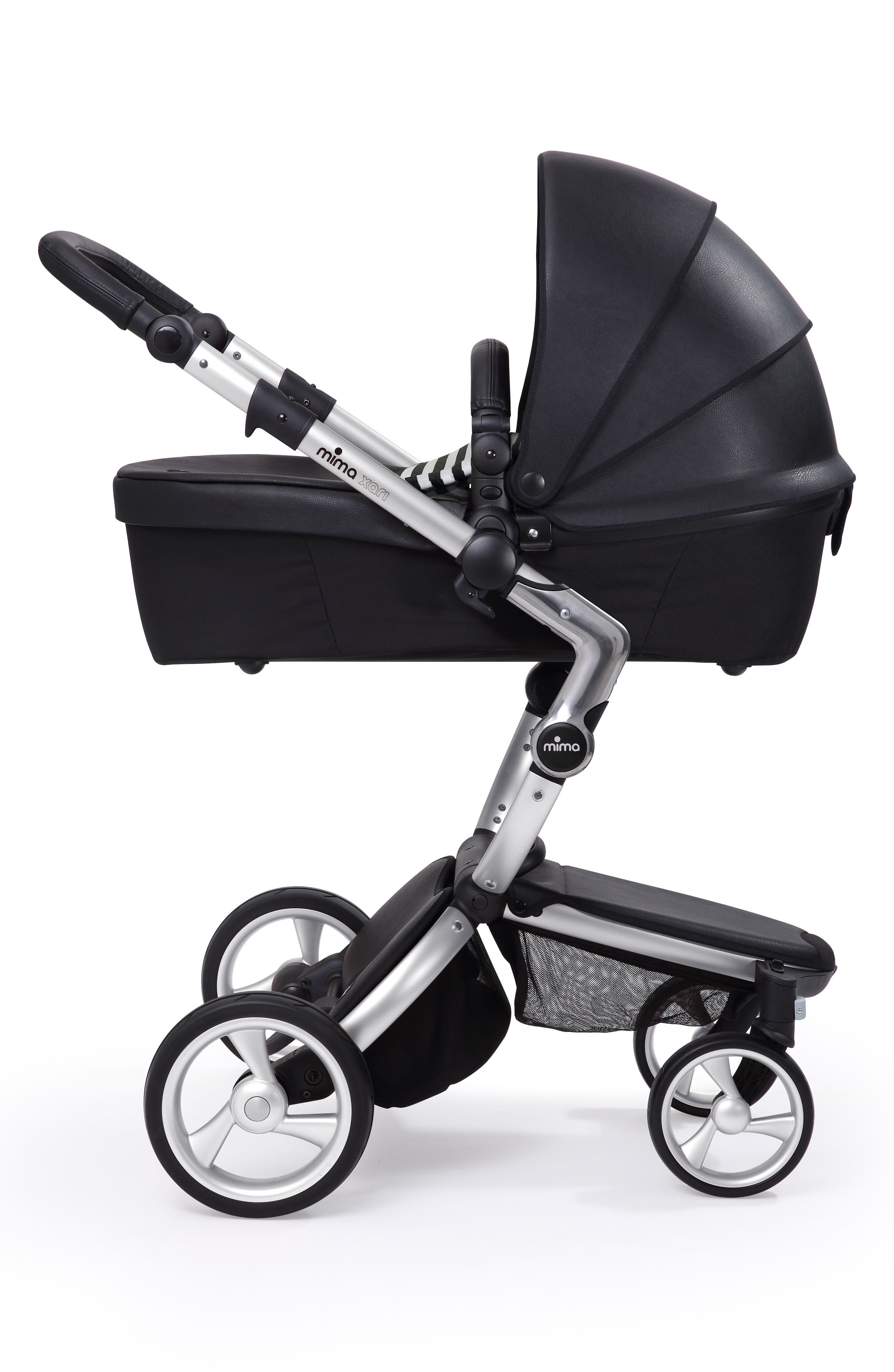 Xari Aluminum Chassis Stroller with Reversible Reclining Seat & Carrycot,                             Alternate thumbnail 7, color,                             Black / Black And White
