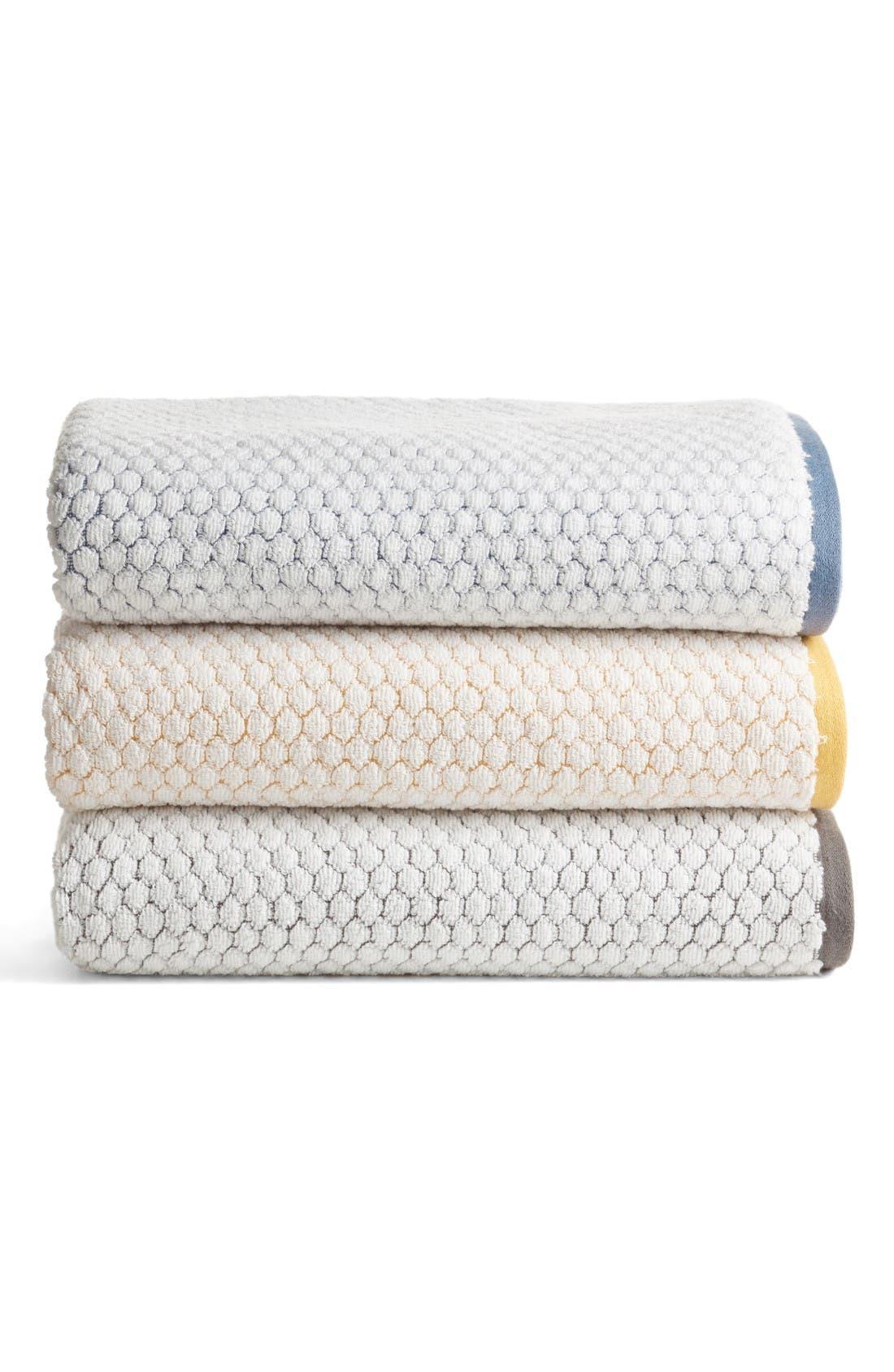 Cobble Bath Towel,                             Alternate thumbnail 2, color,                             Blue Vintage