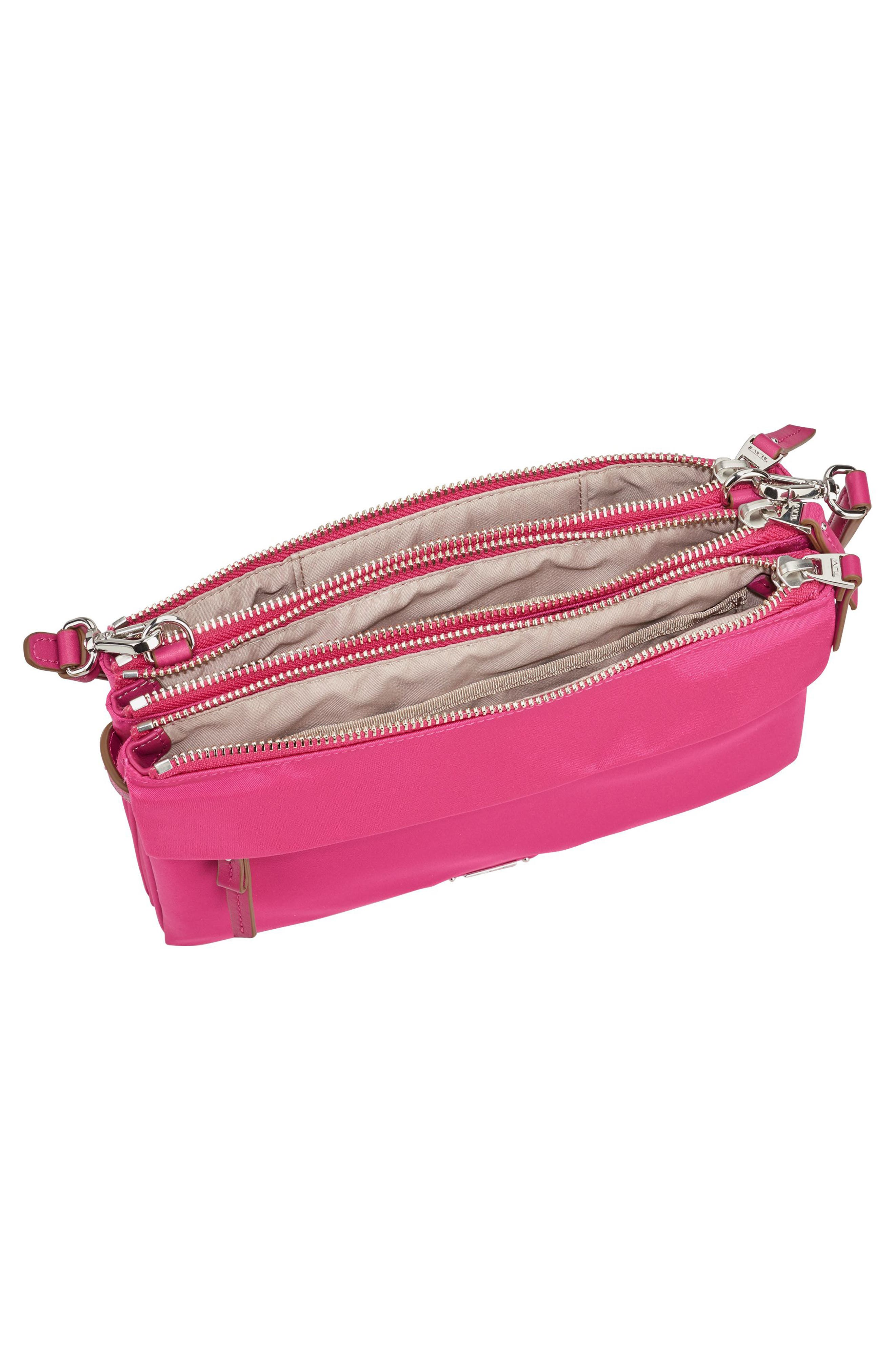 Voyageur - Tristen Nylon Crossbody Bag,                             Alternate thumbnail 3, color,                             Pink