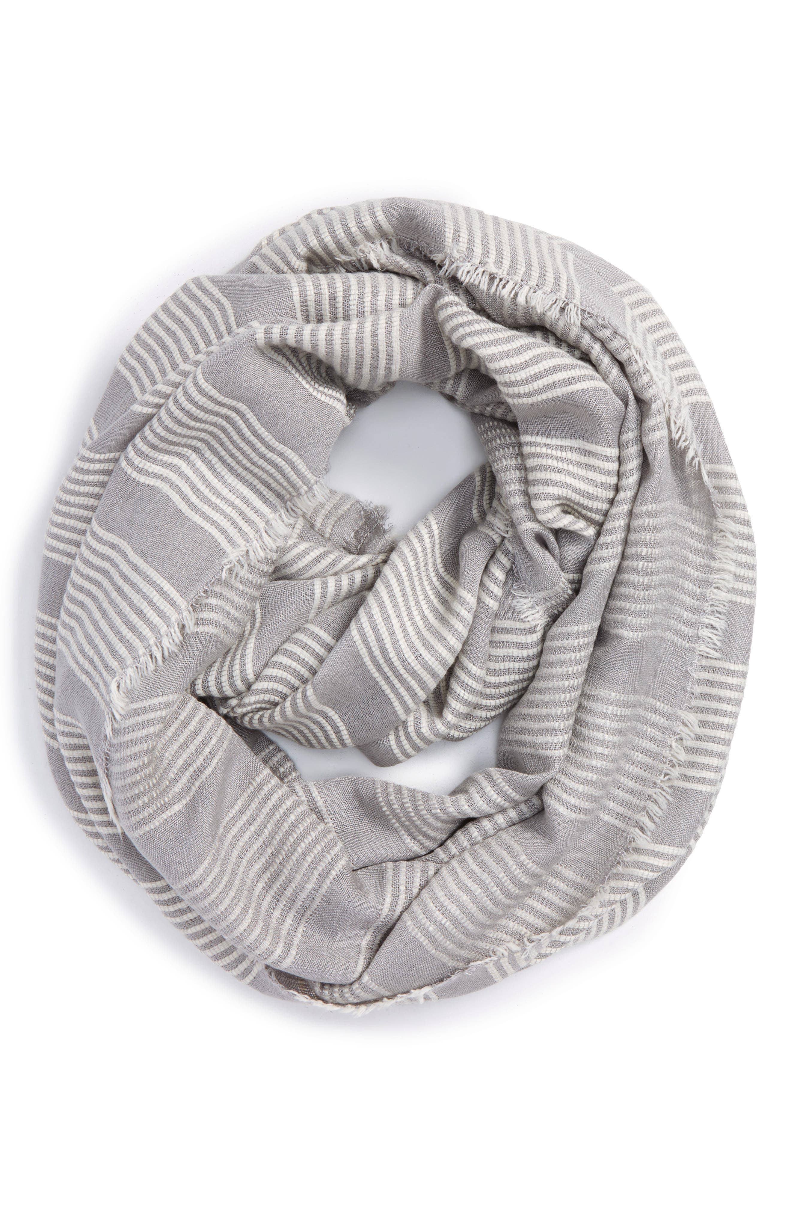 Alternate Image 1 Selected - La Double 7 Stitch Stripe Infinity Scarf