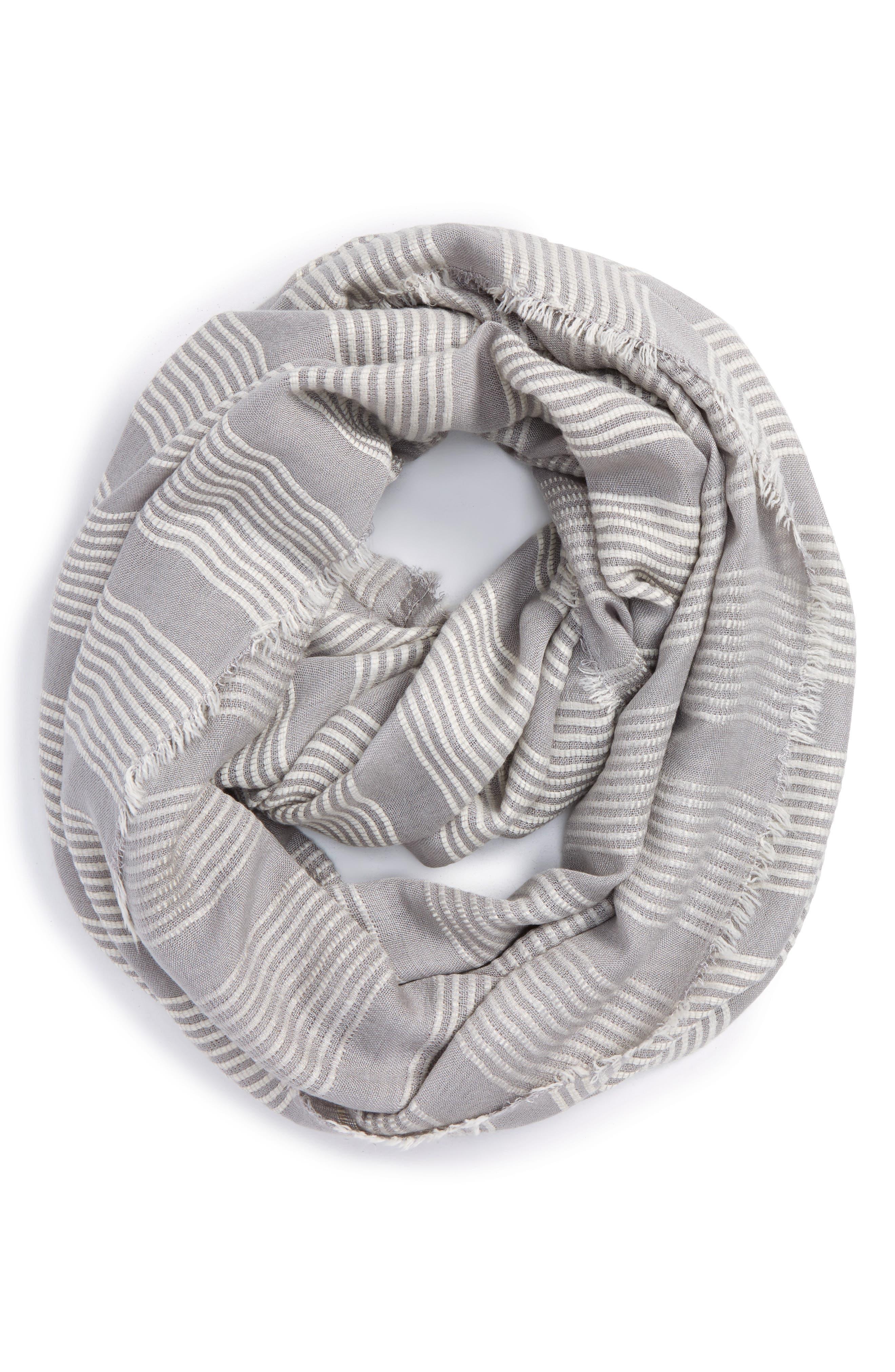 Main Image - La Double 7 Stitch Stripe Infinity Scarf