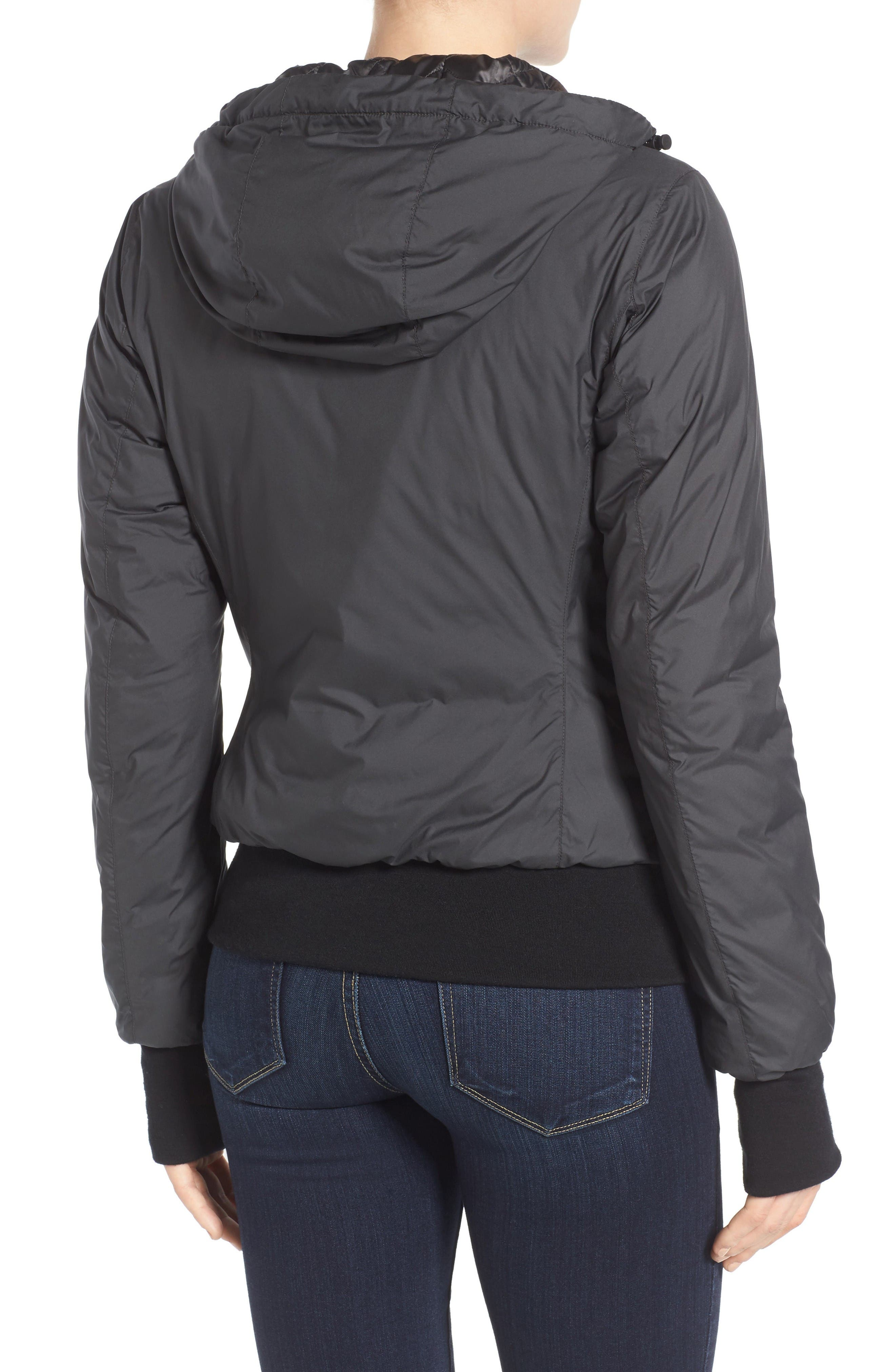 Dore Goose Down Hooded Jacket,                             Alternate thumbnail 2, color,                             Black