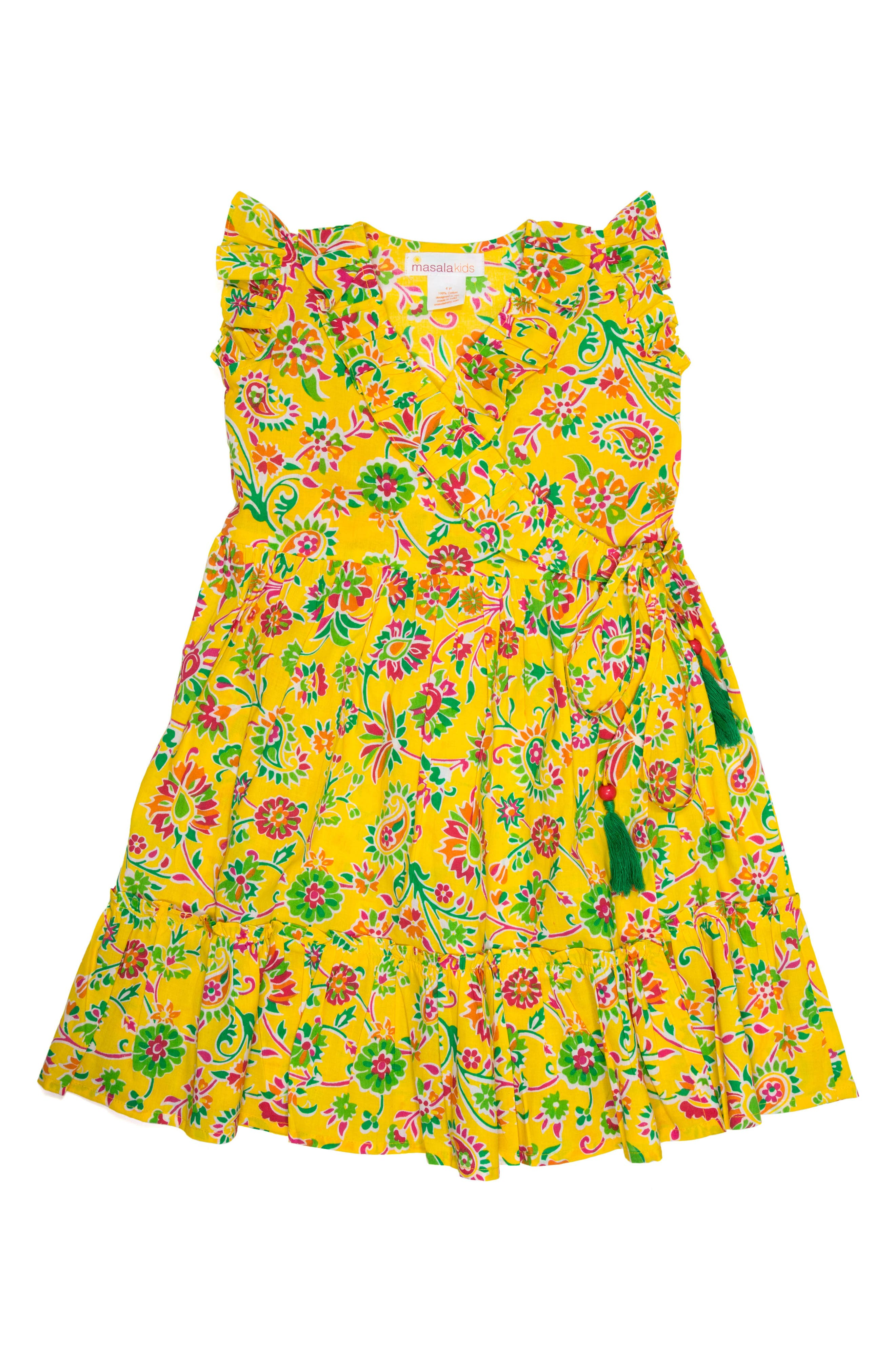 Masalababy Ayla Floral Wrap Dress (Toddler Girls, Little Girls & Big Girls)