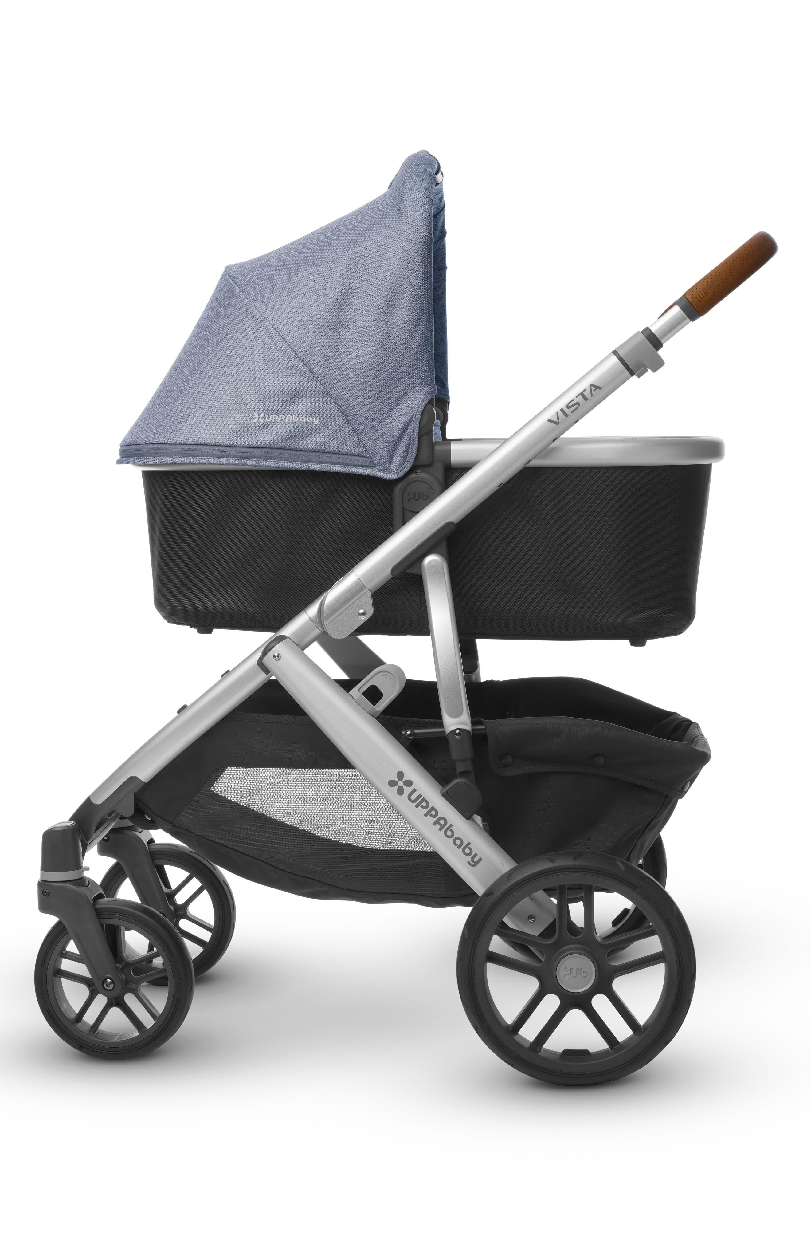 2017 VISTA Henry Aluminum Frame Convertible Stroller with Bassinet & Toddler Seat,                             Alternate thumbnail 3, color,                             Blue Marl
