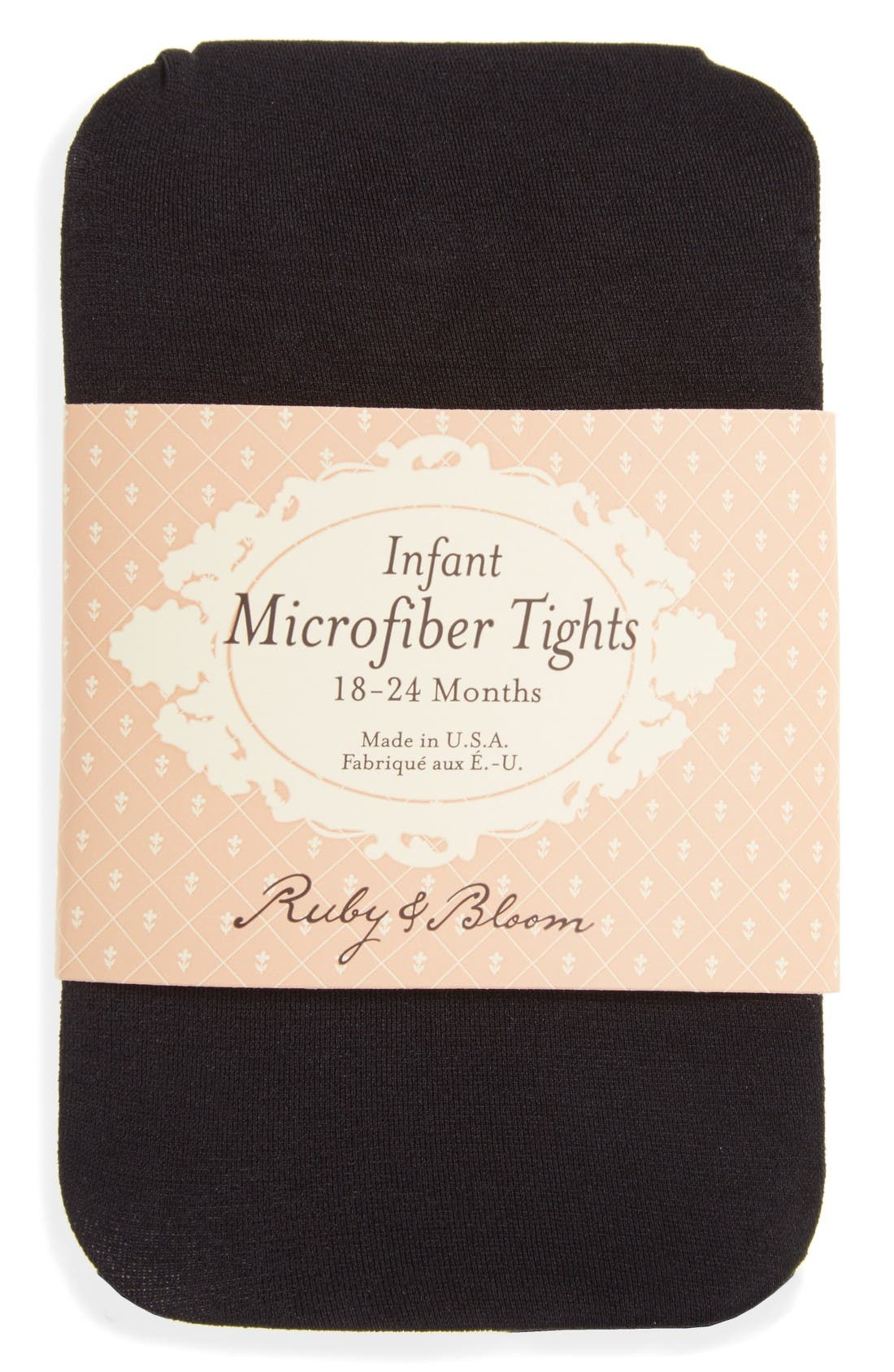 Alternate Image 2  - Ruby & Bloom So Fine Microfiber Tights (Baby Girls) (2 for $15)
