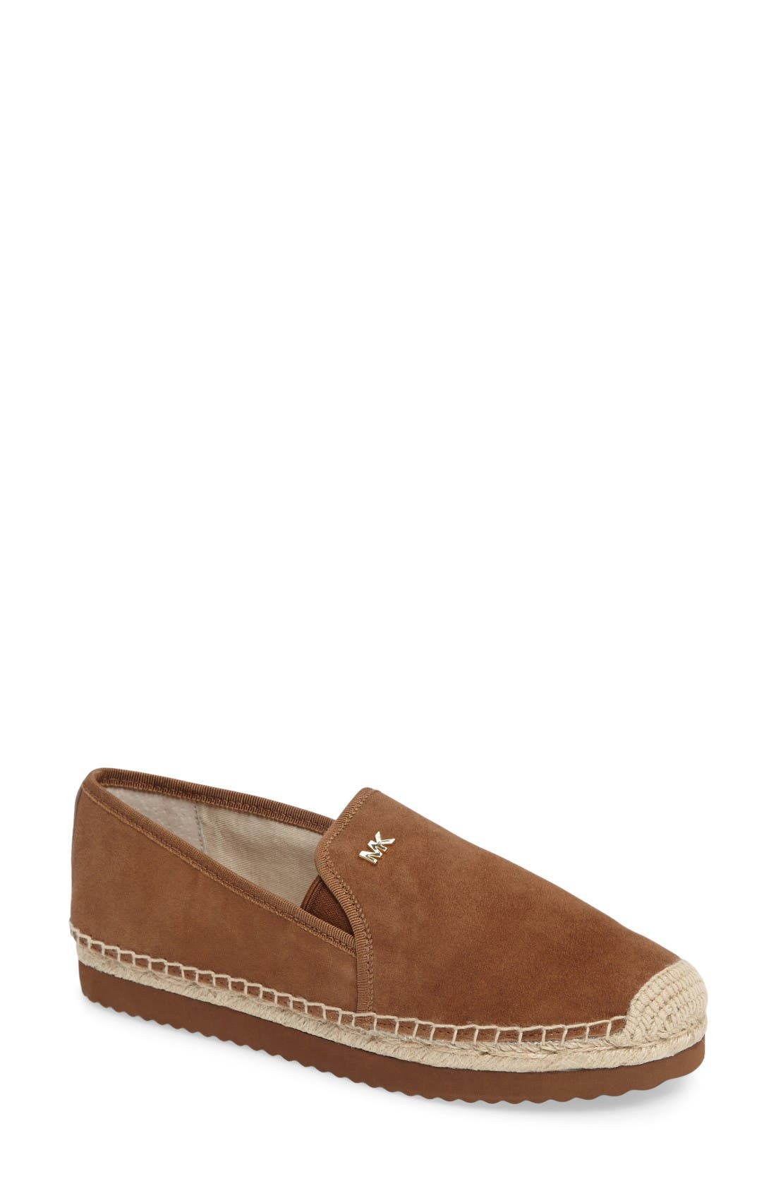 Hastings Espadrille Slip-On,                             Main thumbnail 1, color,                             Dark Caramel Suede