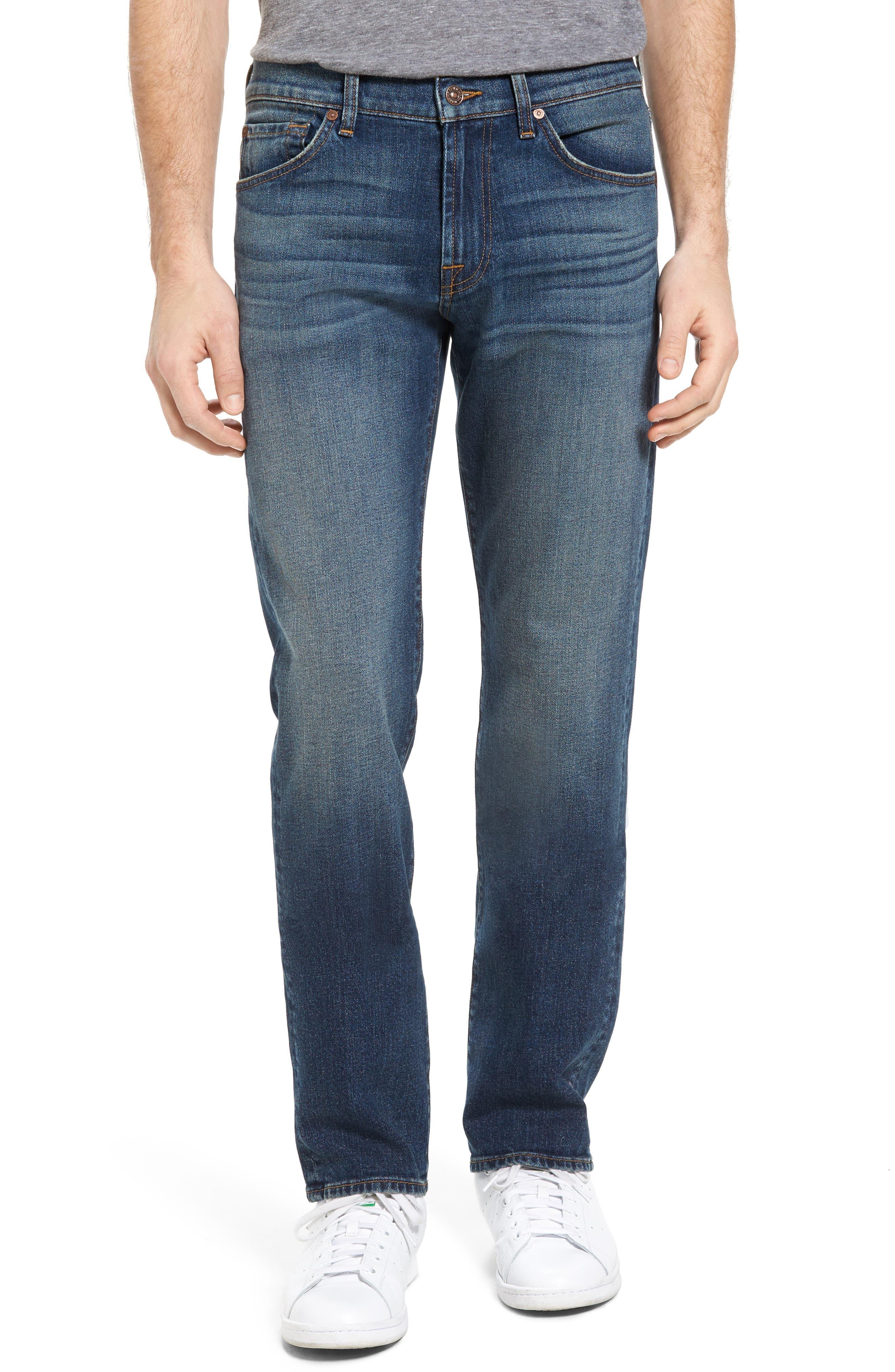 Alternate Image 1 Selected - 7 For All Mankind® Slimmy Slim Fit Jeans (Carolina Tide)
