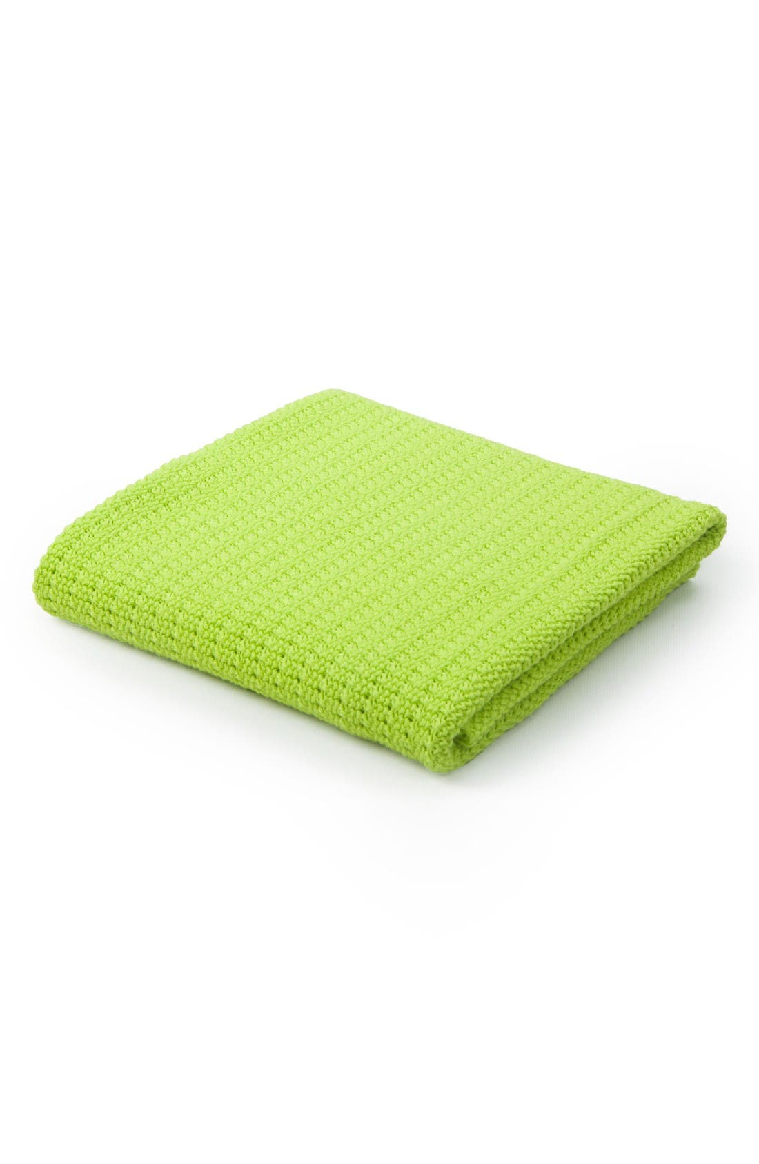 Cellular Cotton Baby Blanket,                         Main,                         color, Green
