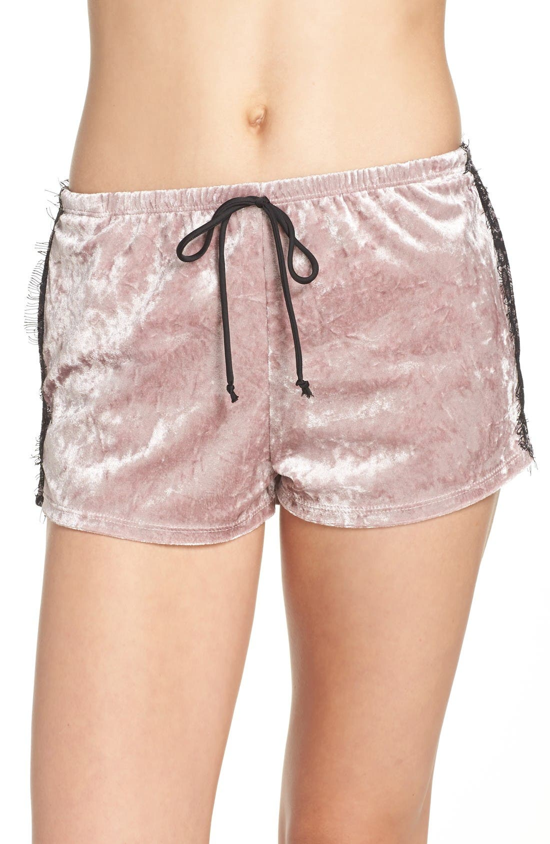 Alternate Image 1 Selected - Band of Gypsies Velvet Shorts